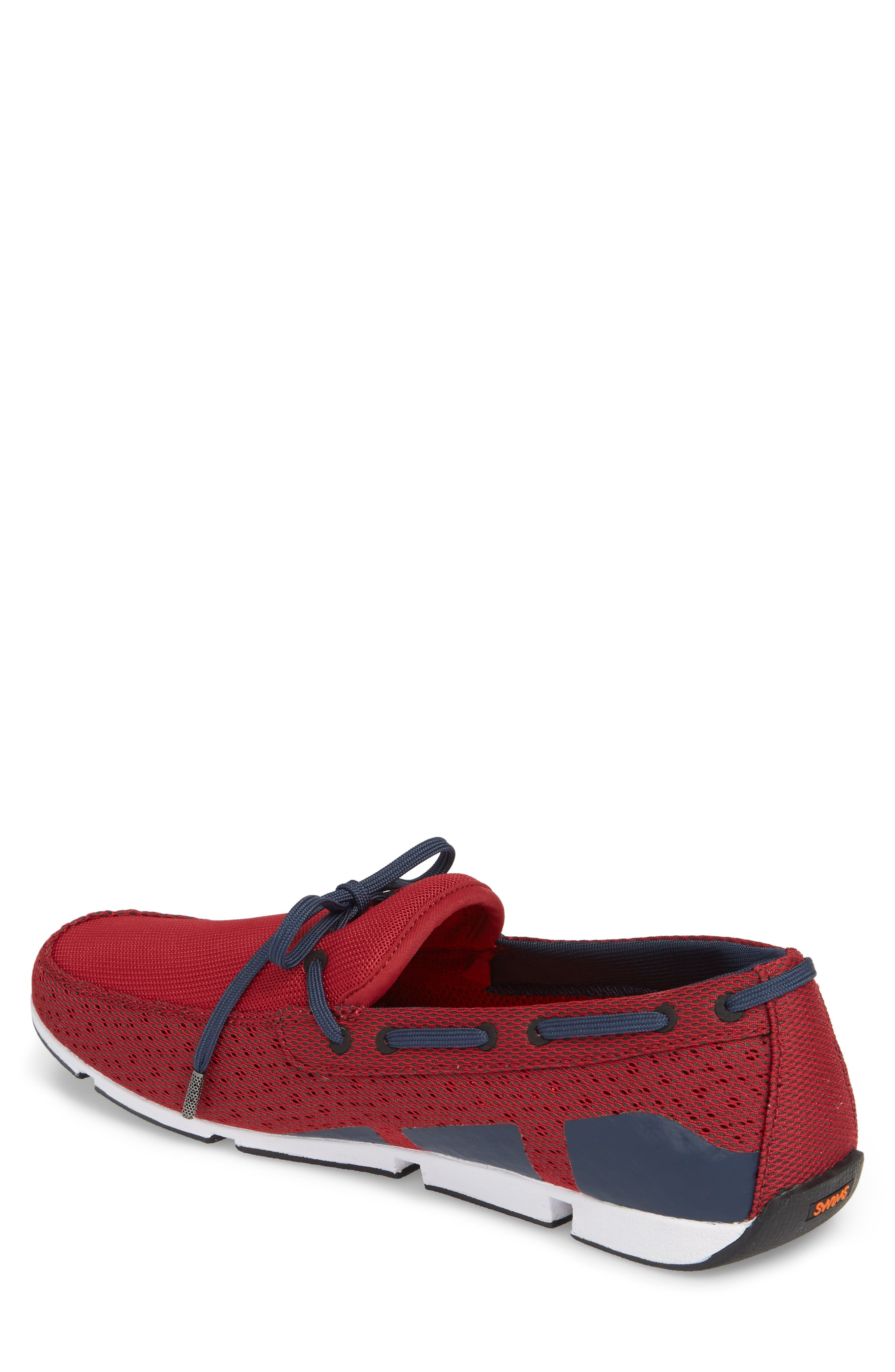 Breeze Loafer,                             Alternate thumbnail 2, color,                             Deep Red/ Navy/ White
