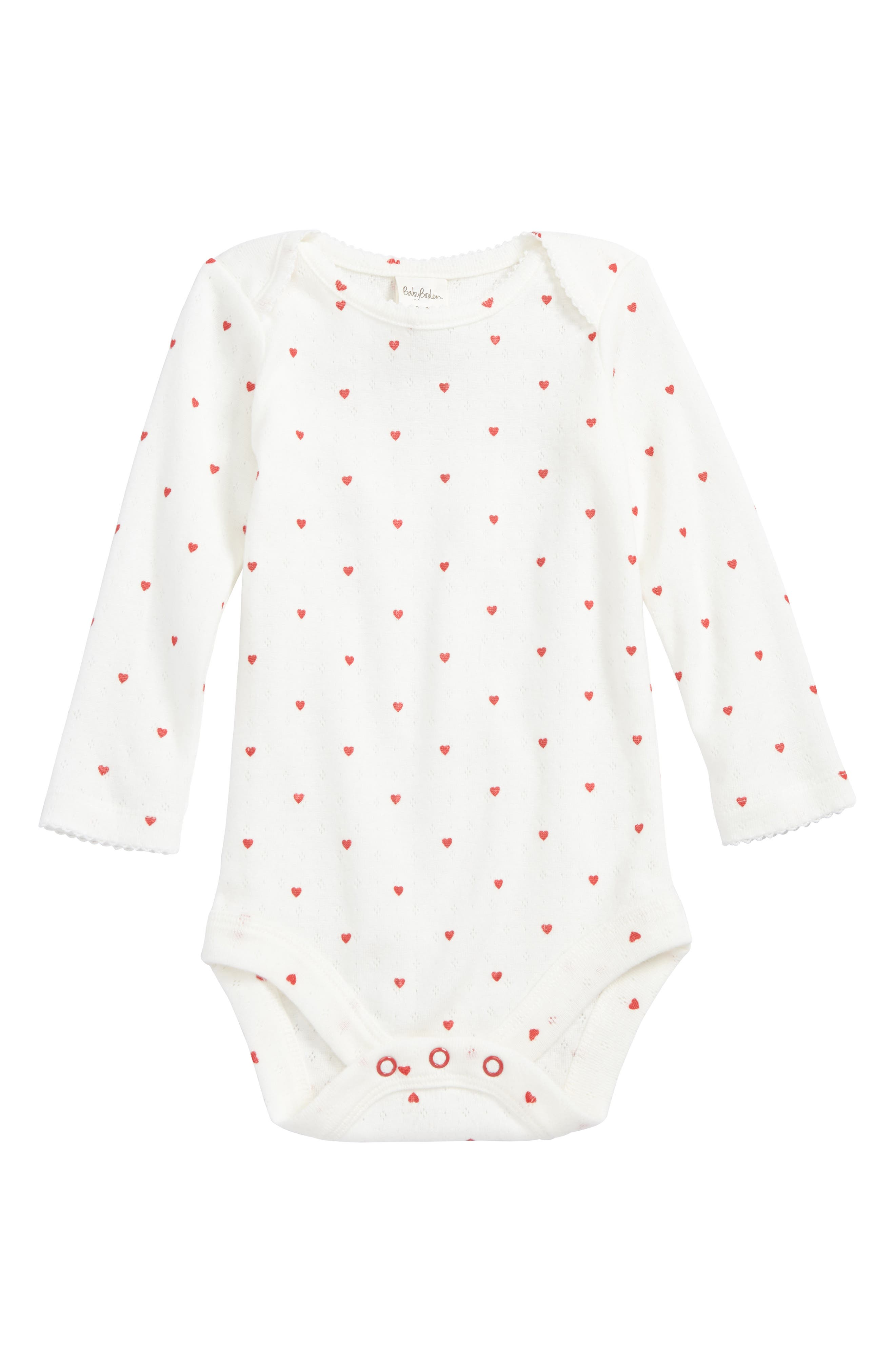 Mini Boden Cozy Pointelle Bodysuit (Baby Girls)