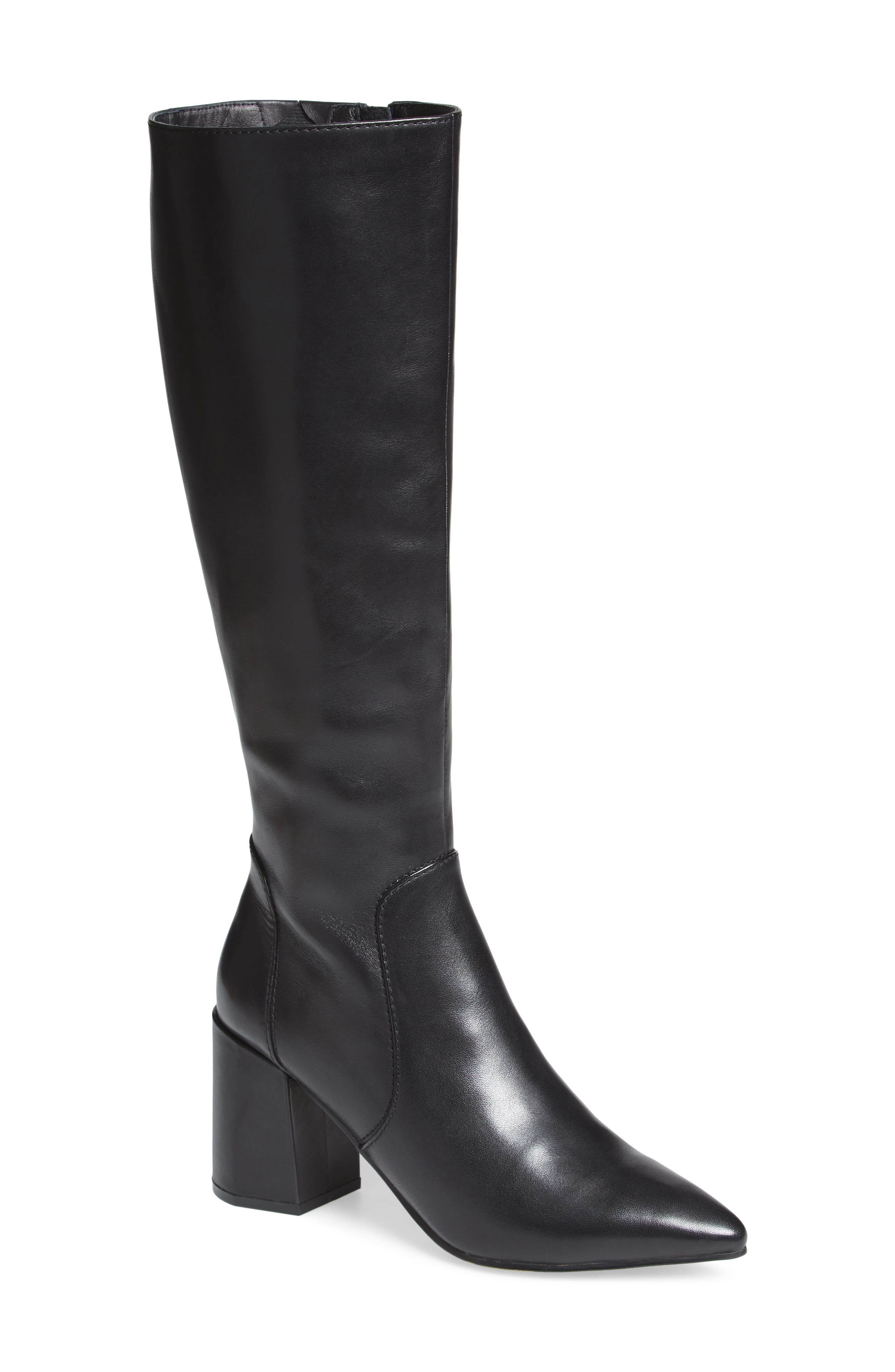 Blink Boot,                             Main thumbnail 1, color,                             Black Leather