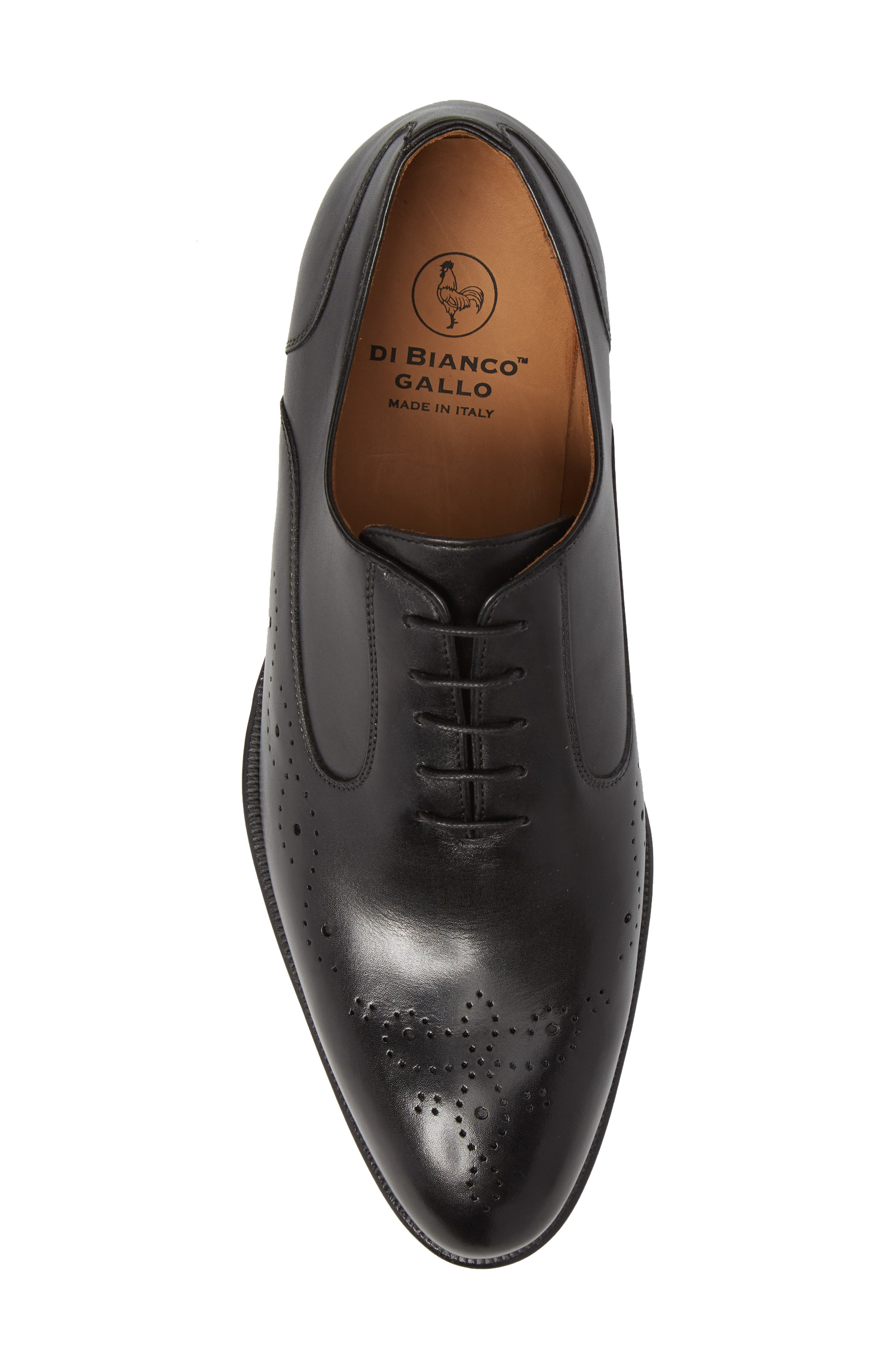 Medallion Toe Oxford,                             Alternate thumbnail 5, color,                             Nero