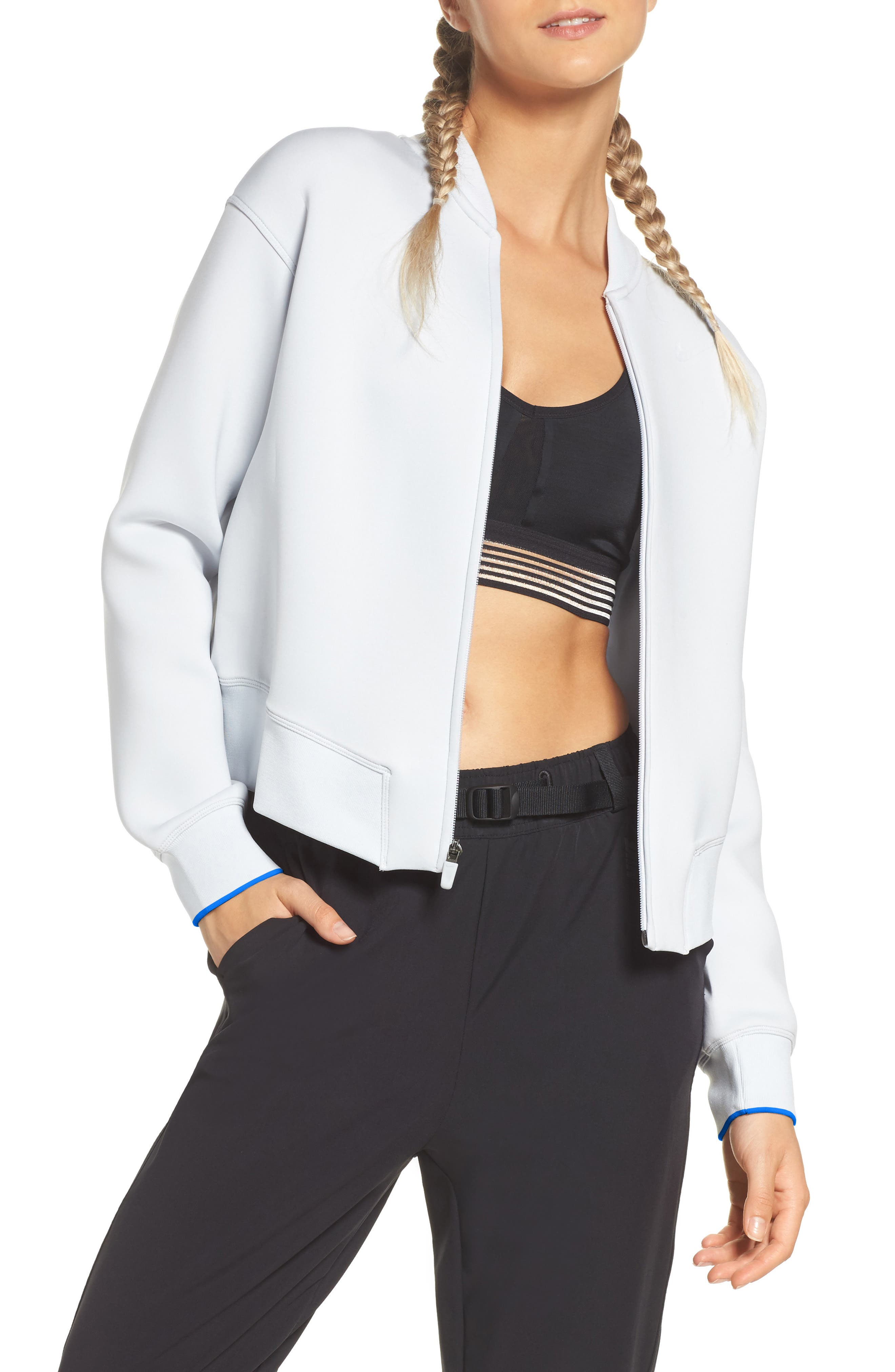 Therma Sphere Max Training Jacket,                         Main,                         color, Pure Platinum/ Wolf Grey