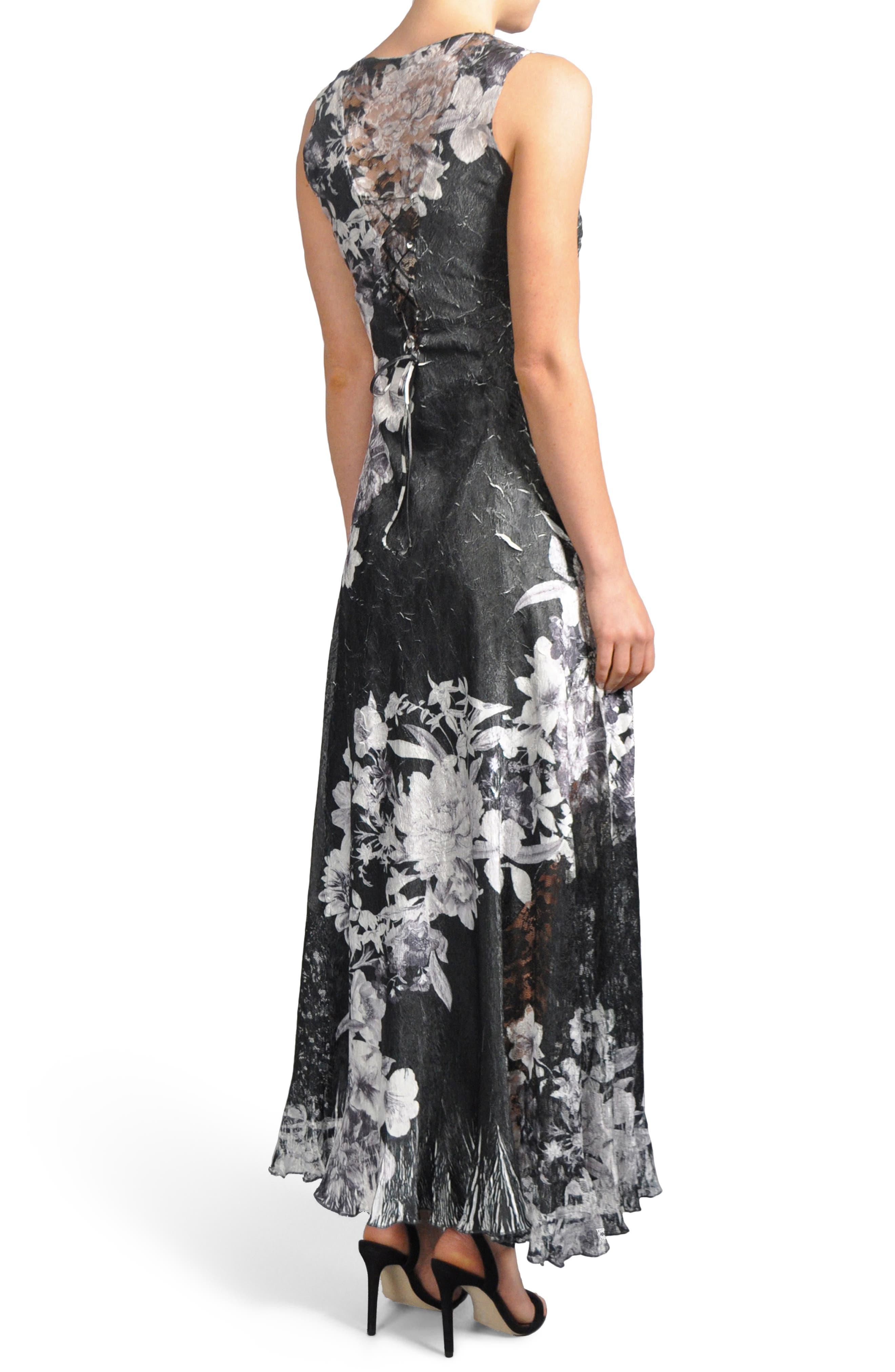 Alternate Image 2  - Komarov Lace-Up Back Dress with Wrap