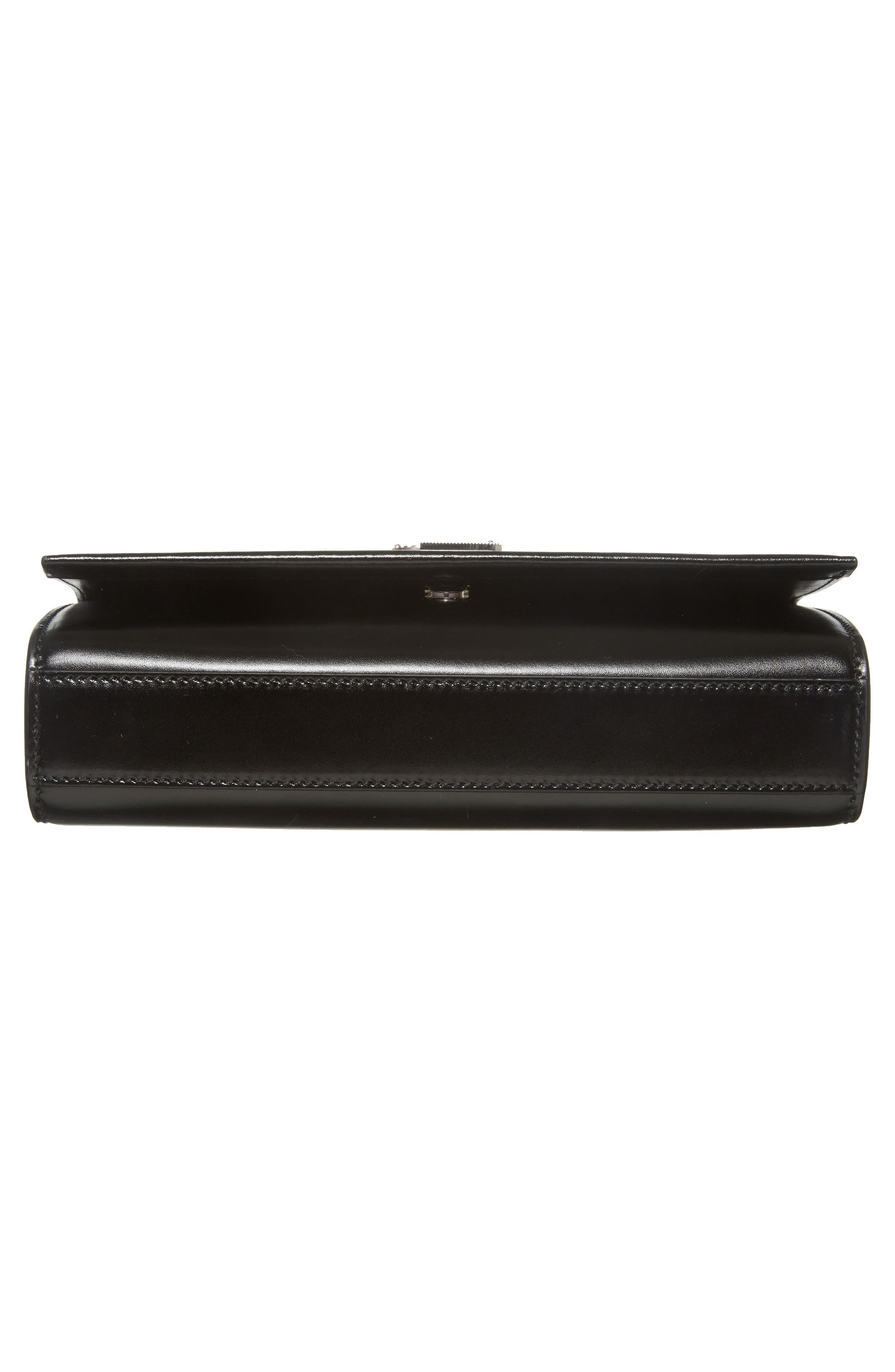 Medium Kate Calfskin Leather Crossbody Bag,                             Alternate thumbnail 6, color,                             Noir