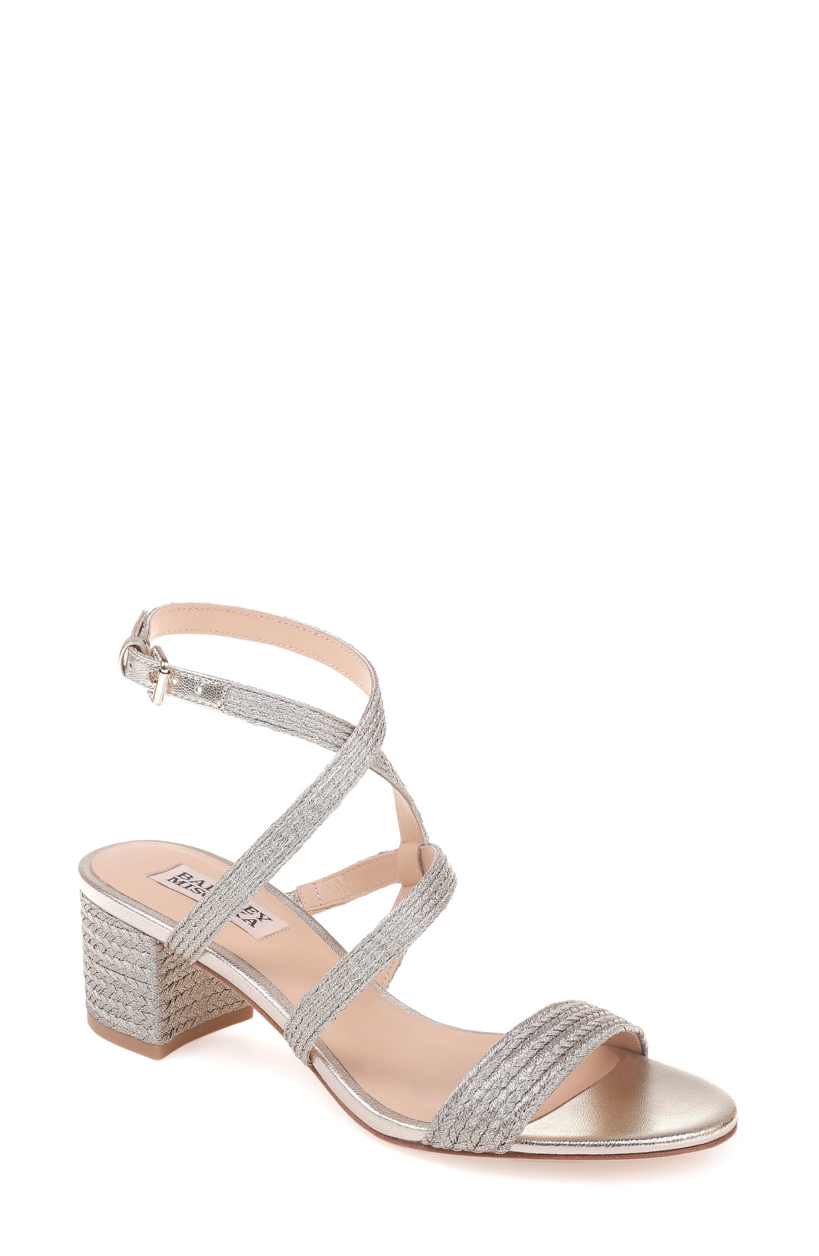 Storm Block Heel Sandal,                         Main,                         color, Platino Fabric