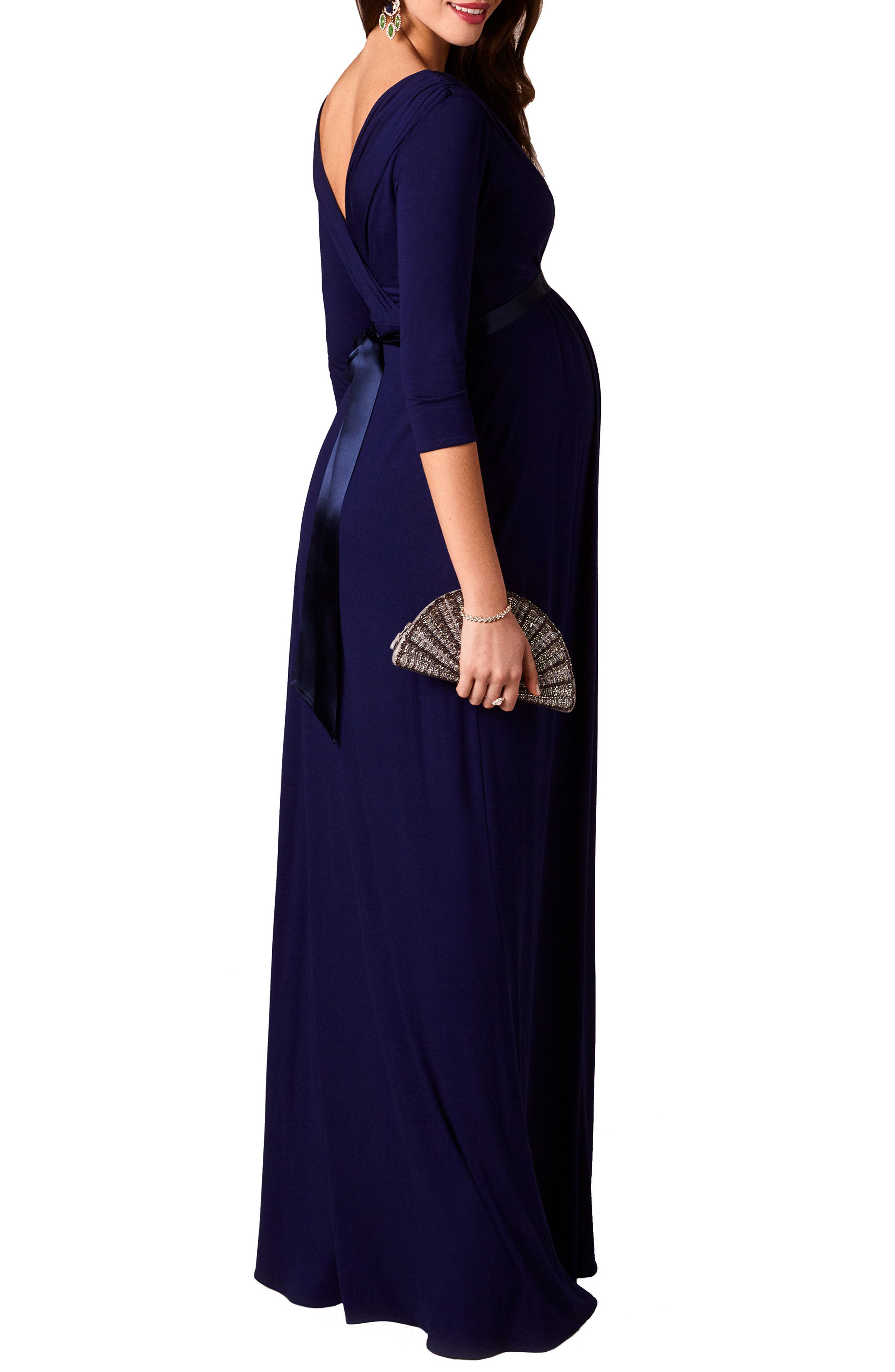 Willow Maternity Gown,                             Alternate thumbnail 2, color,                             Eclipse Blue