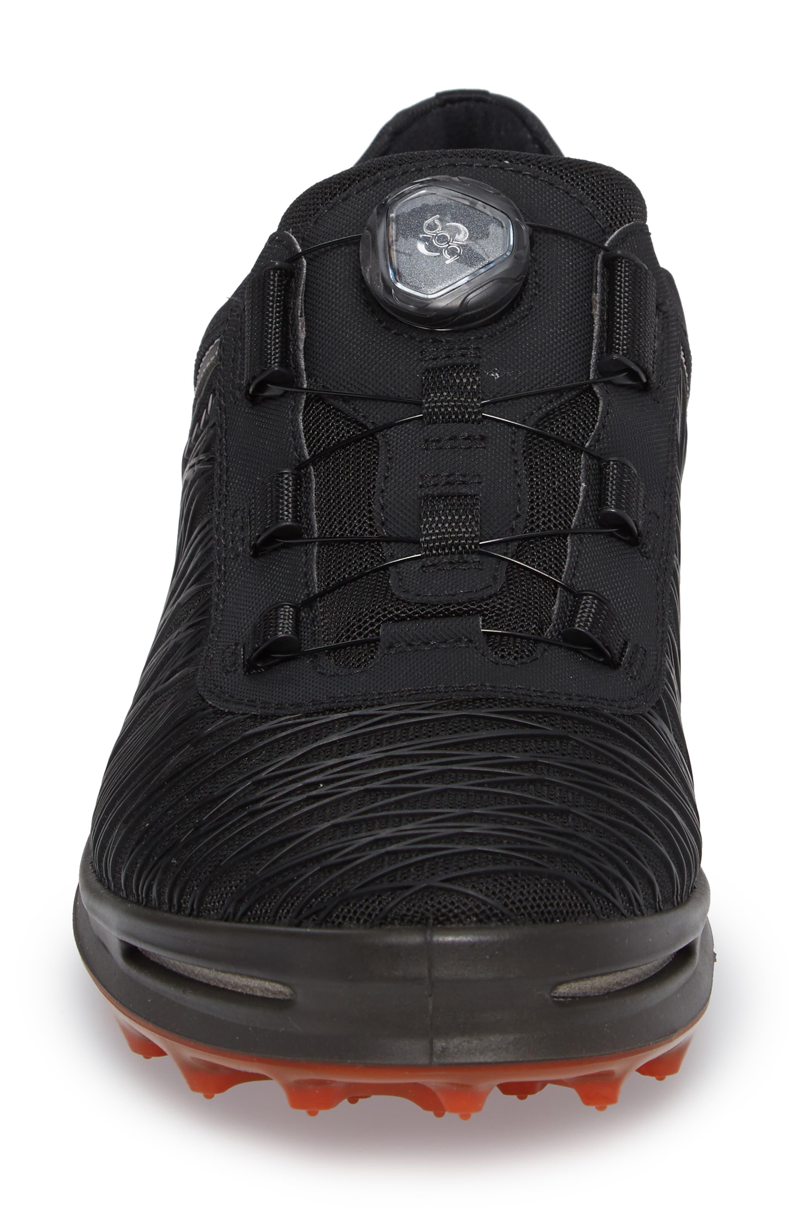 Cage Pro BOA Golf Shoe,                             Alternate thumbnail 4, color,                             Black