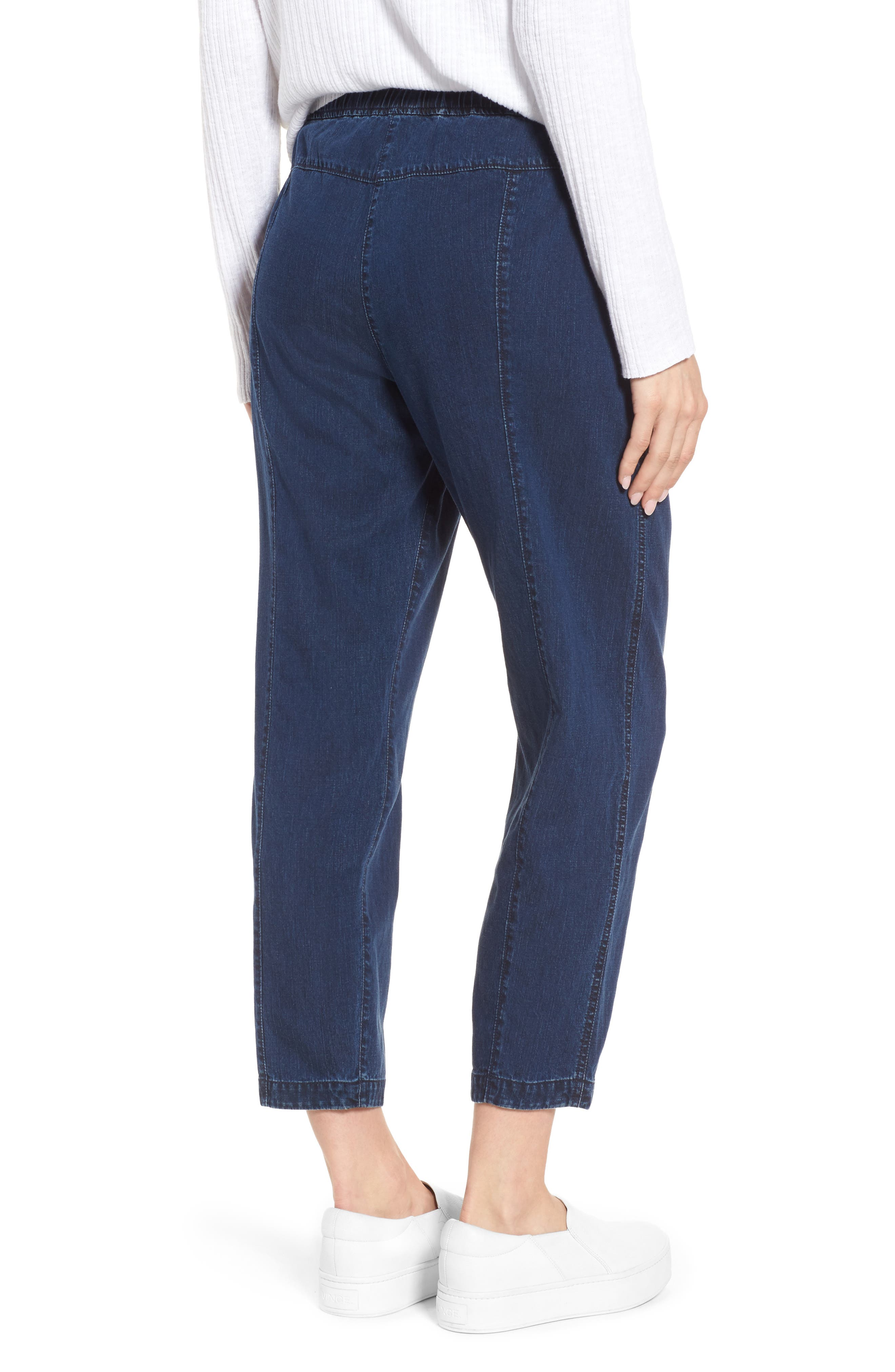 Slouchy Ankle Denim Pants,                             Alternate thumbnail 2, color,                             Midnight