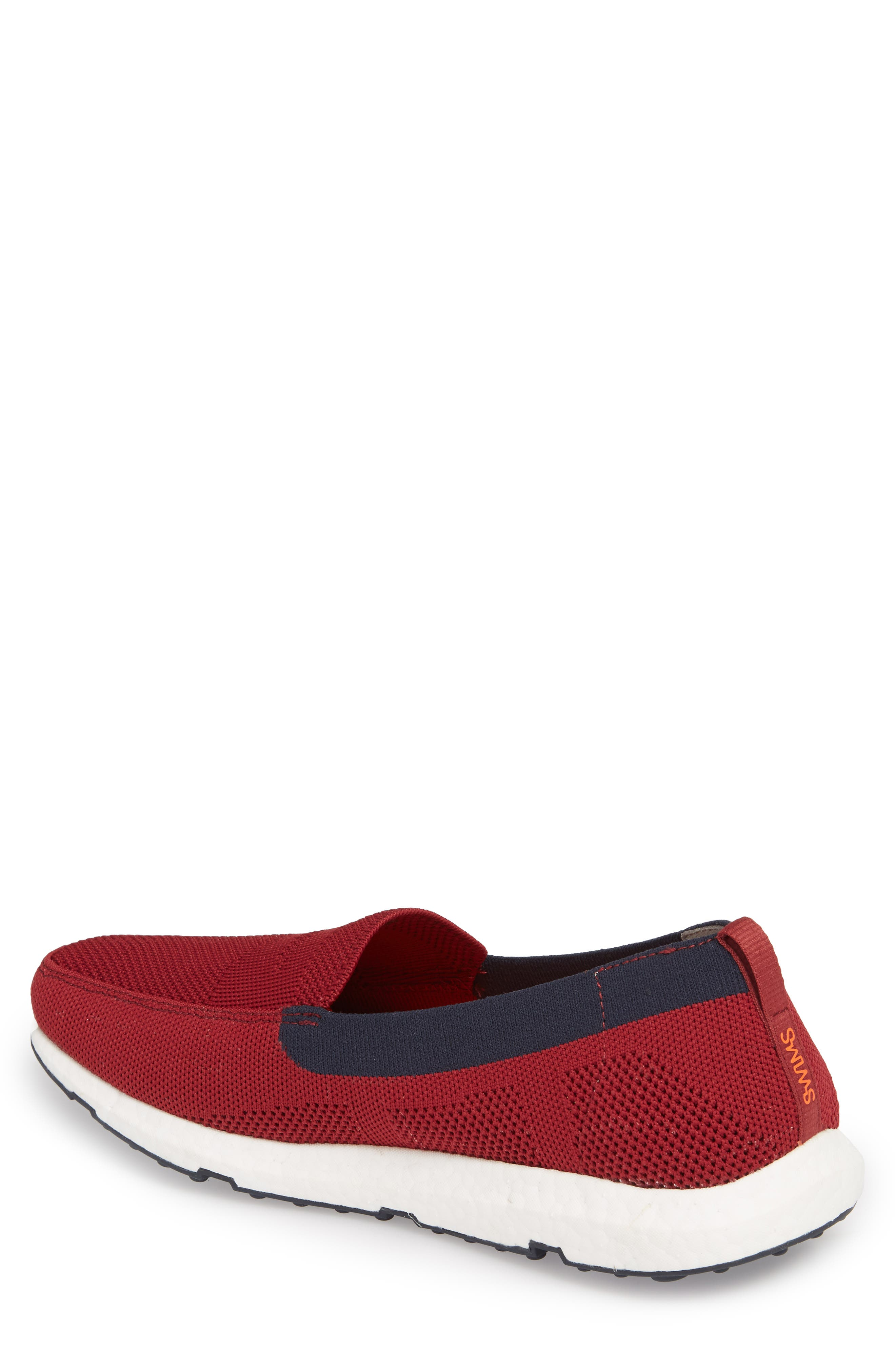 Breeze Leap Penny Loafer,                             Alternate thumbnail 2, color,                             Deep Red/ Navy