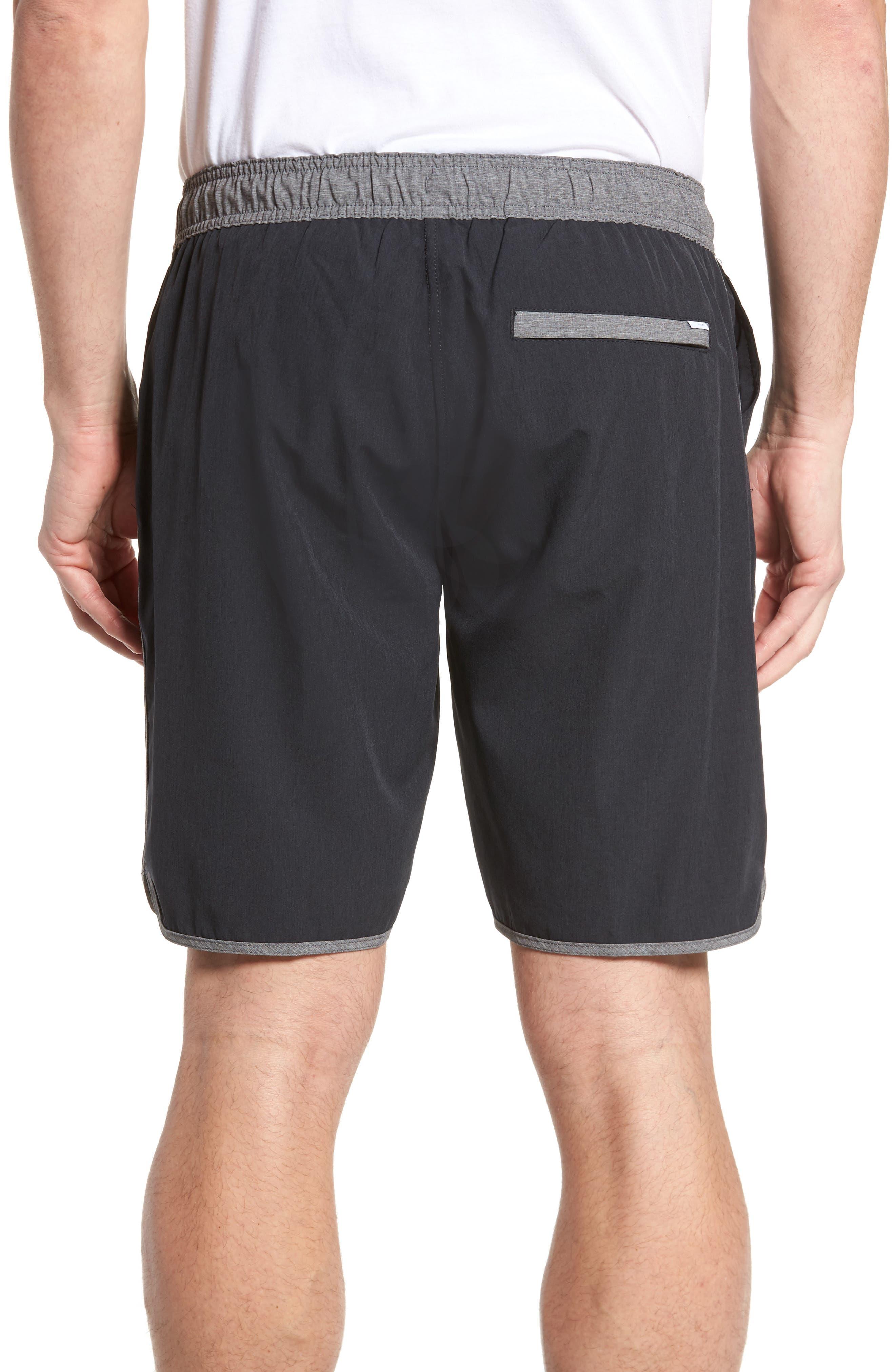 Banks Performance Hybrid Shorts,                             Alternate thumbnail 2, color,                             Black Linen Texture