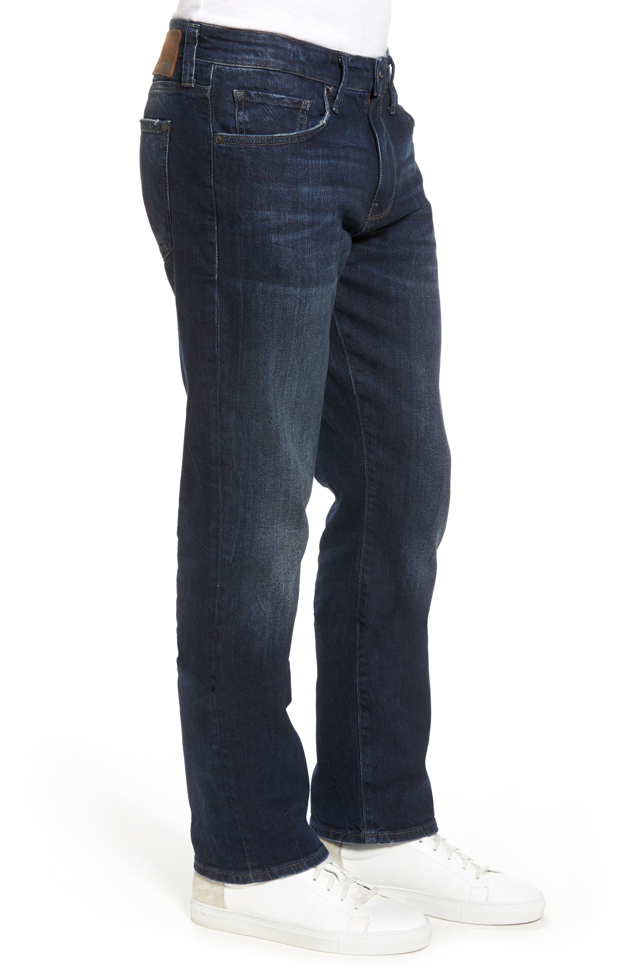 Myles Straight Leg Jeans,                             Alternate thumbnail 3, color,                             Deep Brooklyn