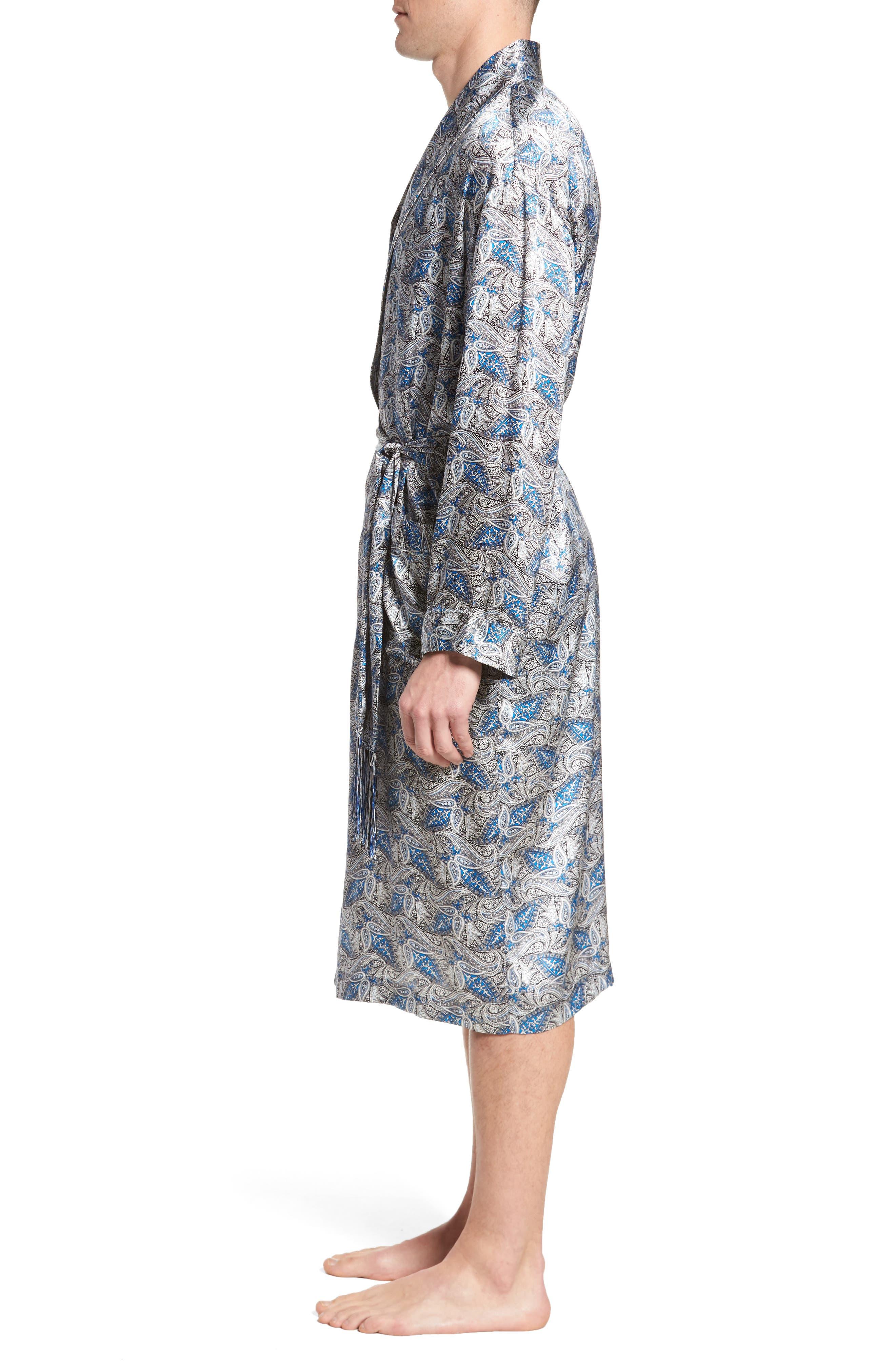 Alternate Image 3  - Majestic International 'Cypress' Silk Dot Robe