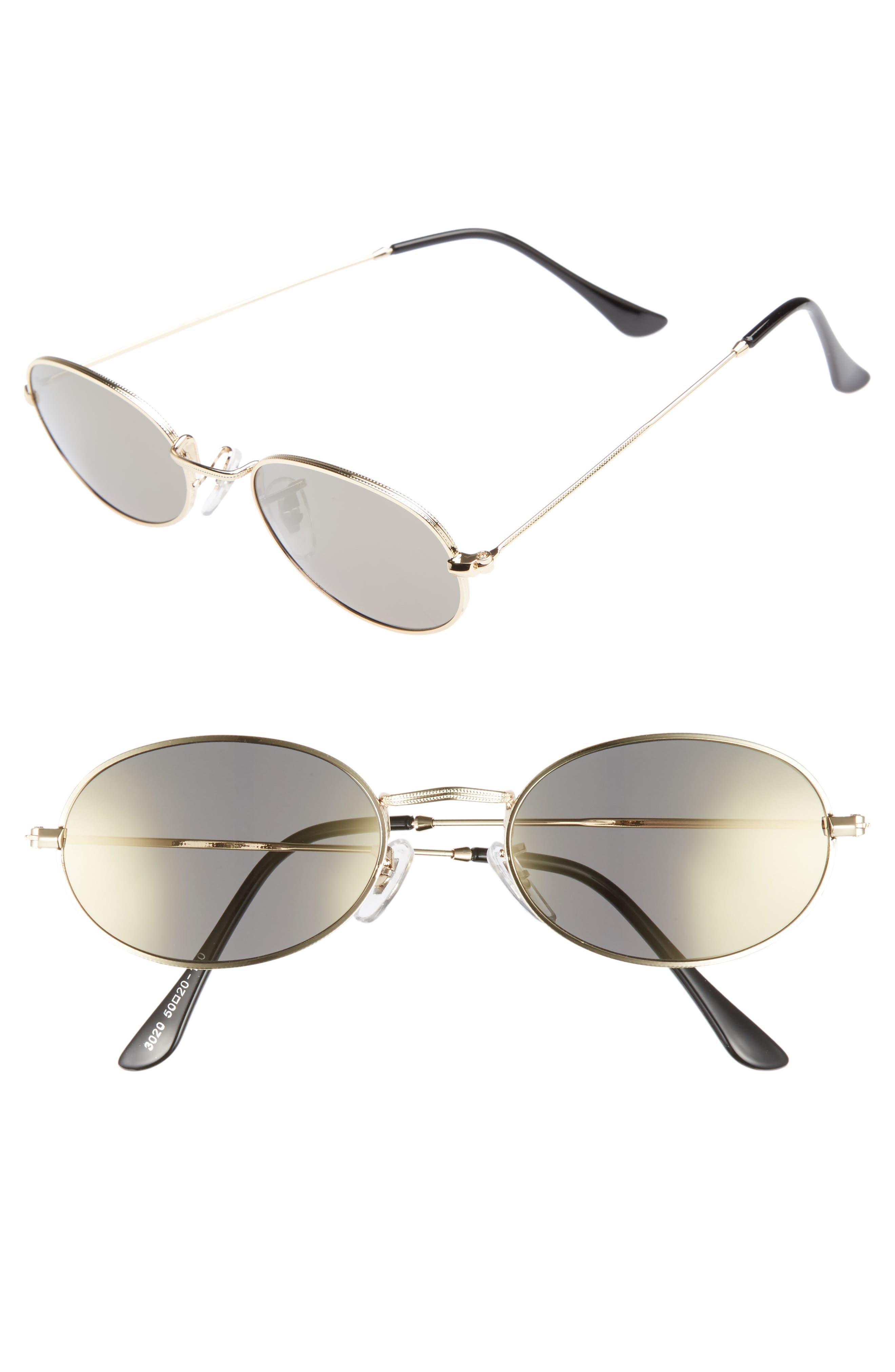 The Kendall 51mm Metal Sunglasses,                             Main thumbnail 1, color,                             Gold