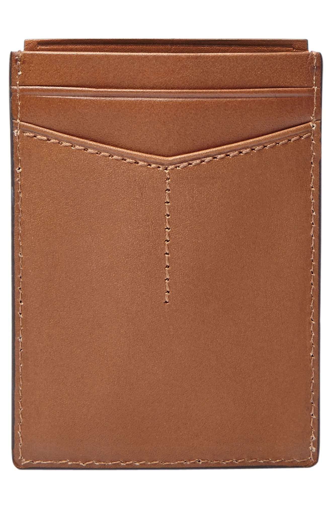 Paul Leather Card Case,                             Alternate thumbnail 2, color,                             Cognac