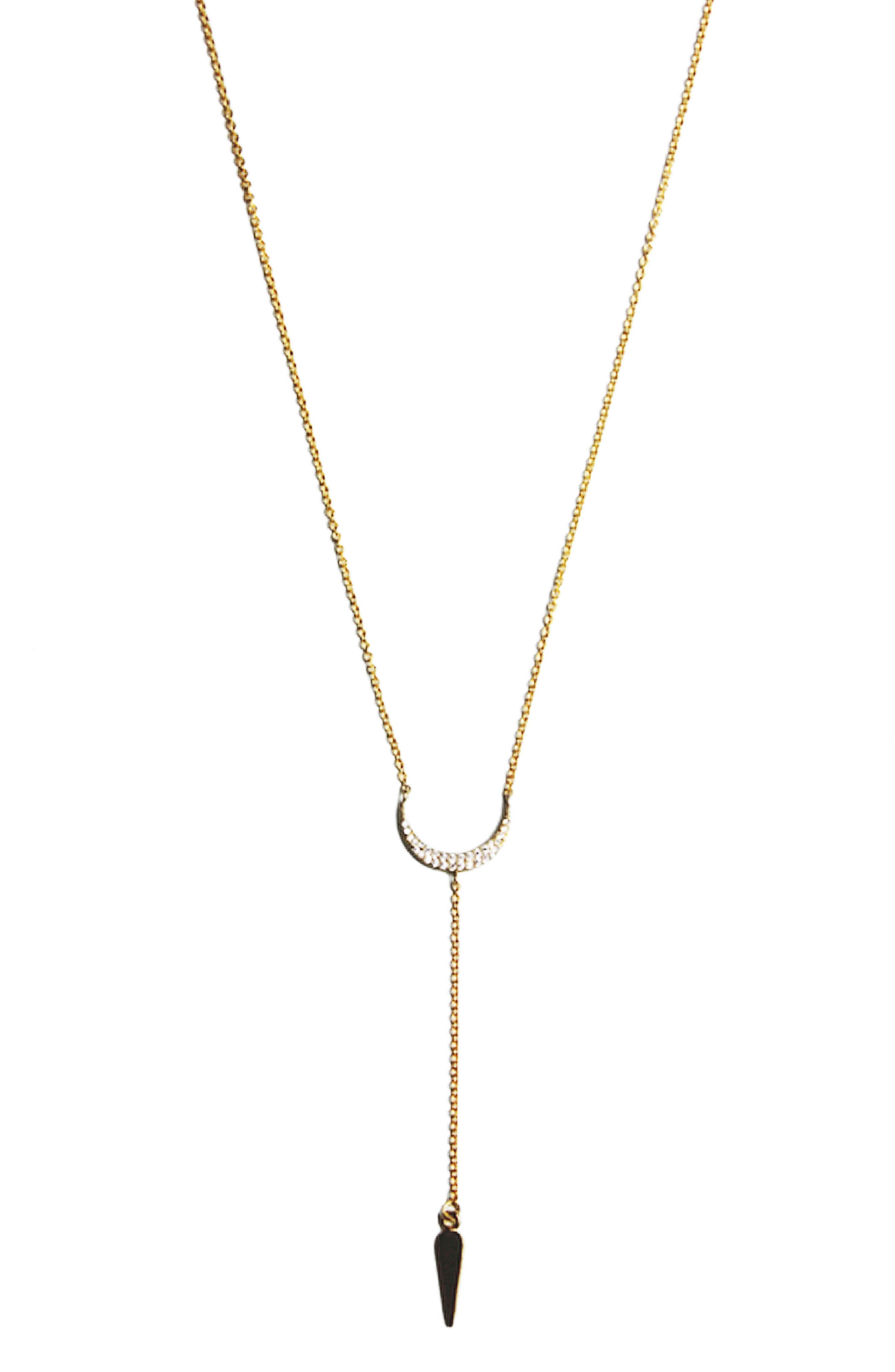 Jules Smith Crescent Lariat Necklace