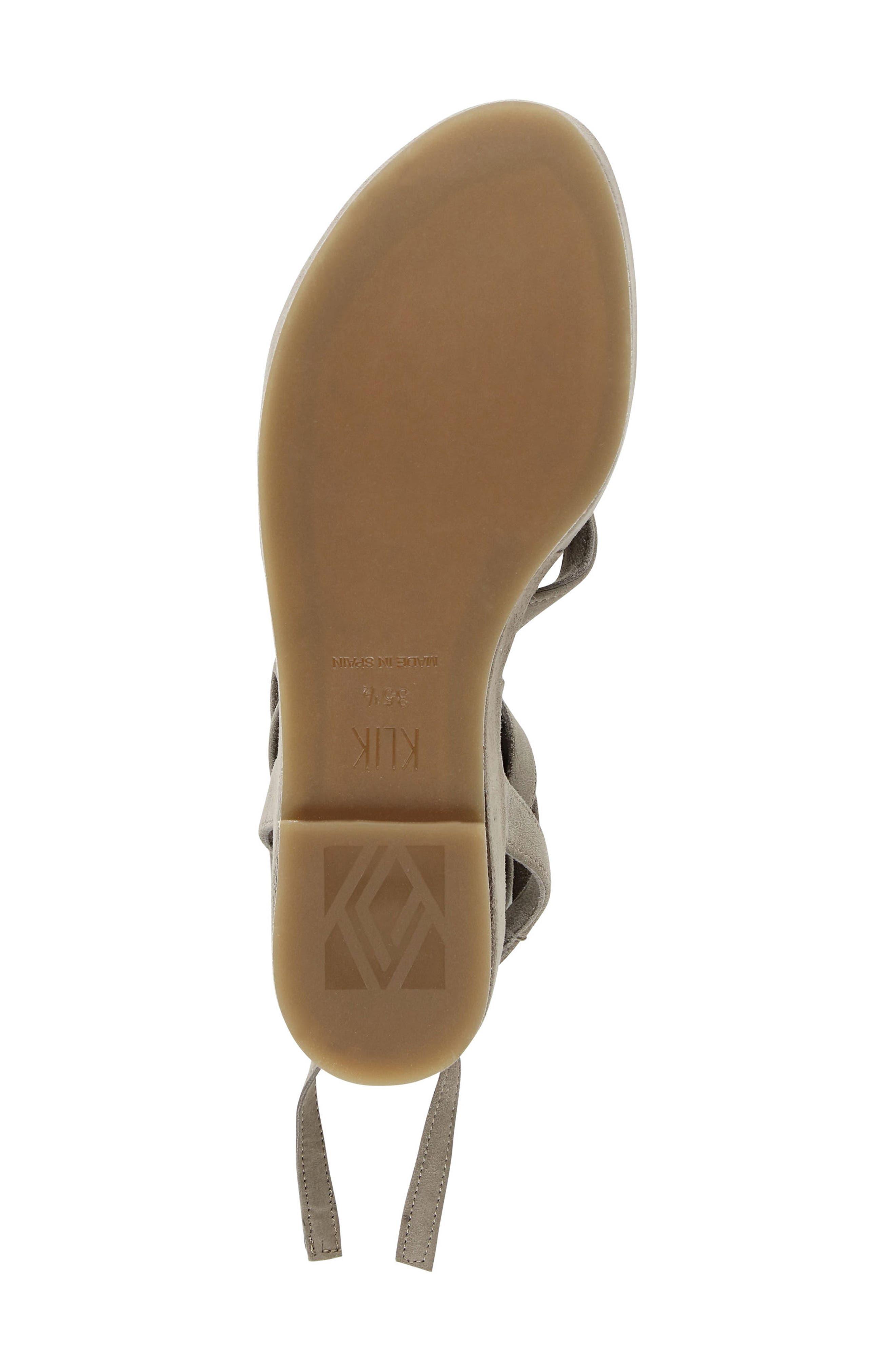 Keri Gladiator Platform Sandal,                             Alternate thumbnail 7, color,                             Camel Suede