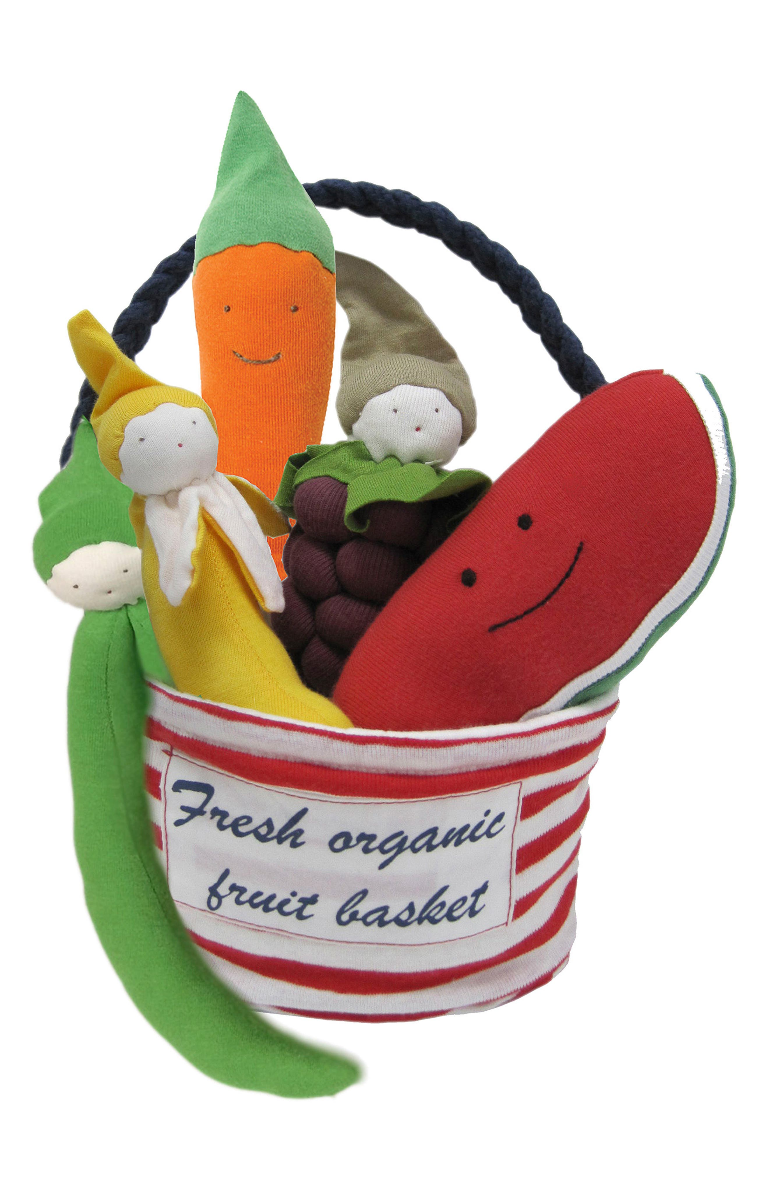 6-Piece Stuffed Fruit & Vegetable Tote,                         Main,                         color, Red