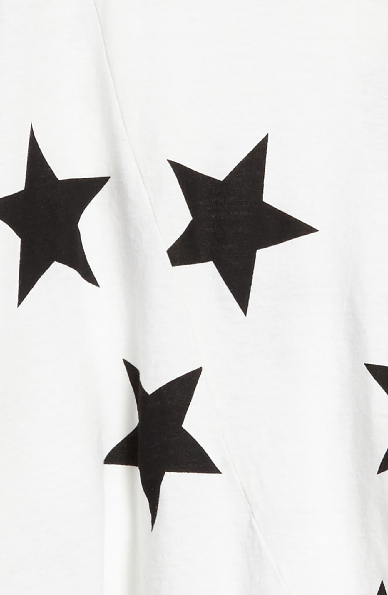 Star Print Maxi Dress,                             Alternate thumbnail 5, color,                             White