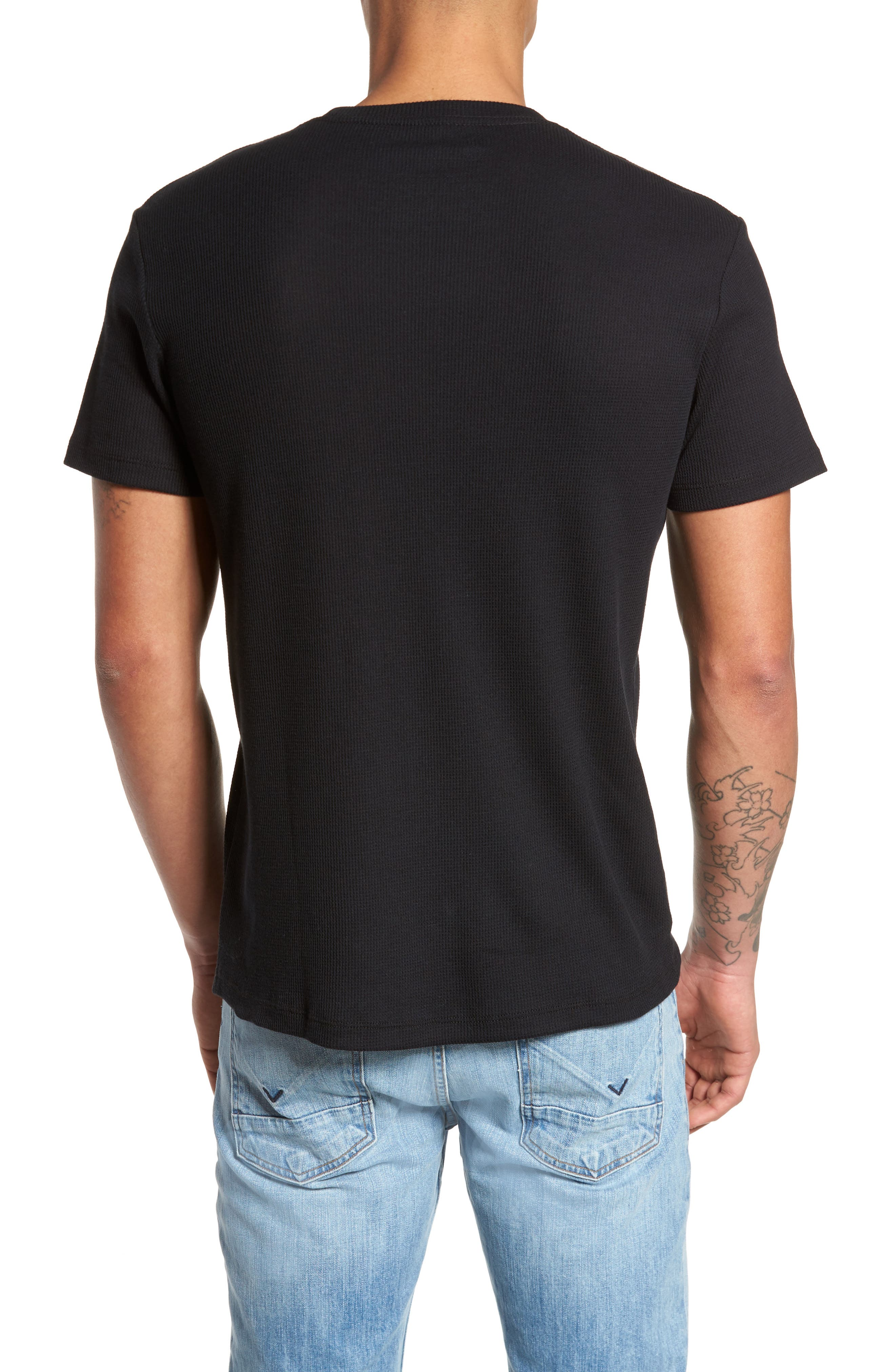 Thermal T-Shirt,                             Alternate thumbnail 2, color,                             Black Rock