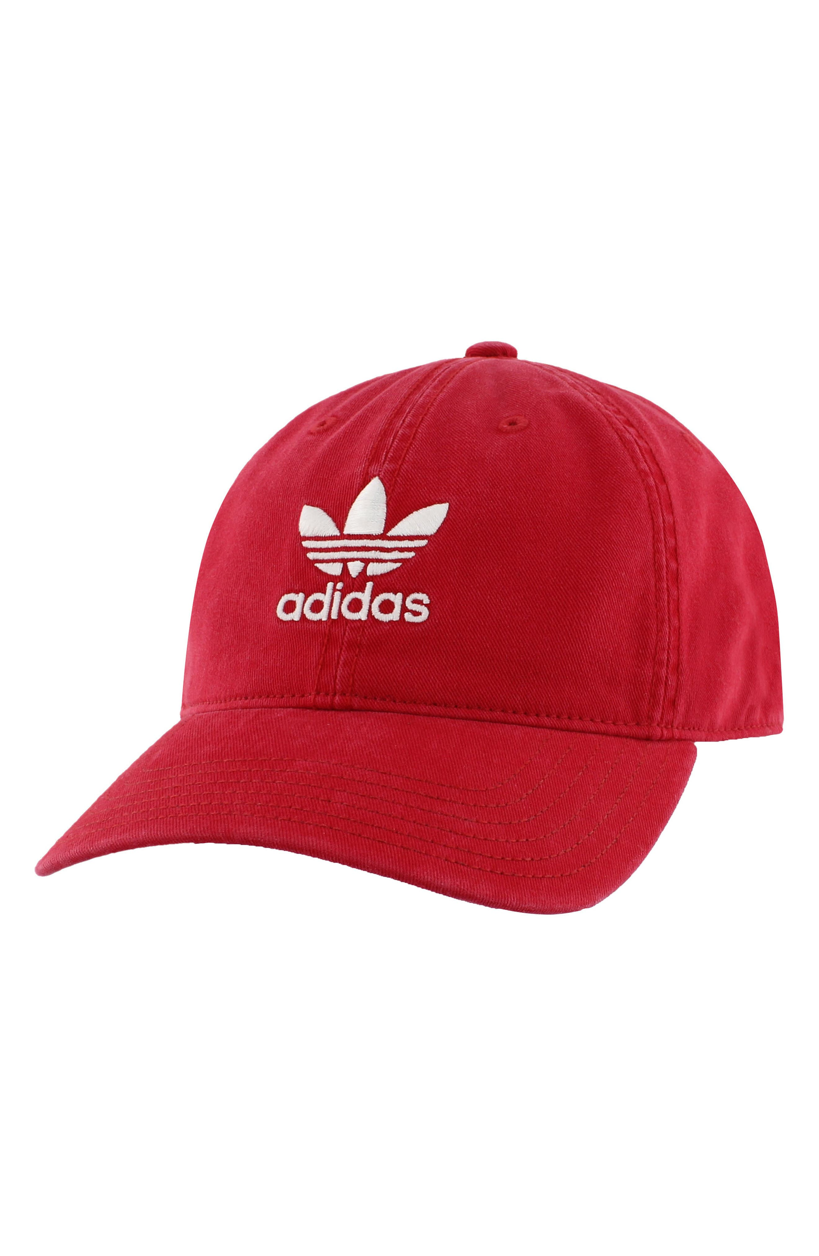 Relaxed Baseball Cap,                             Main thumbnail 1, color,                             Med Red