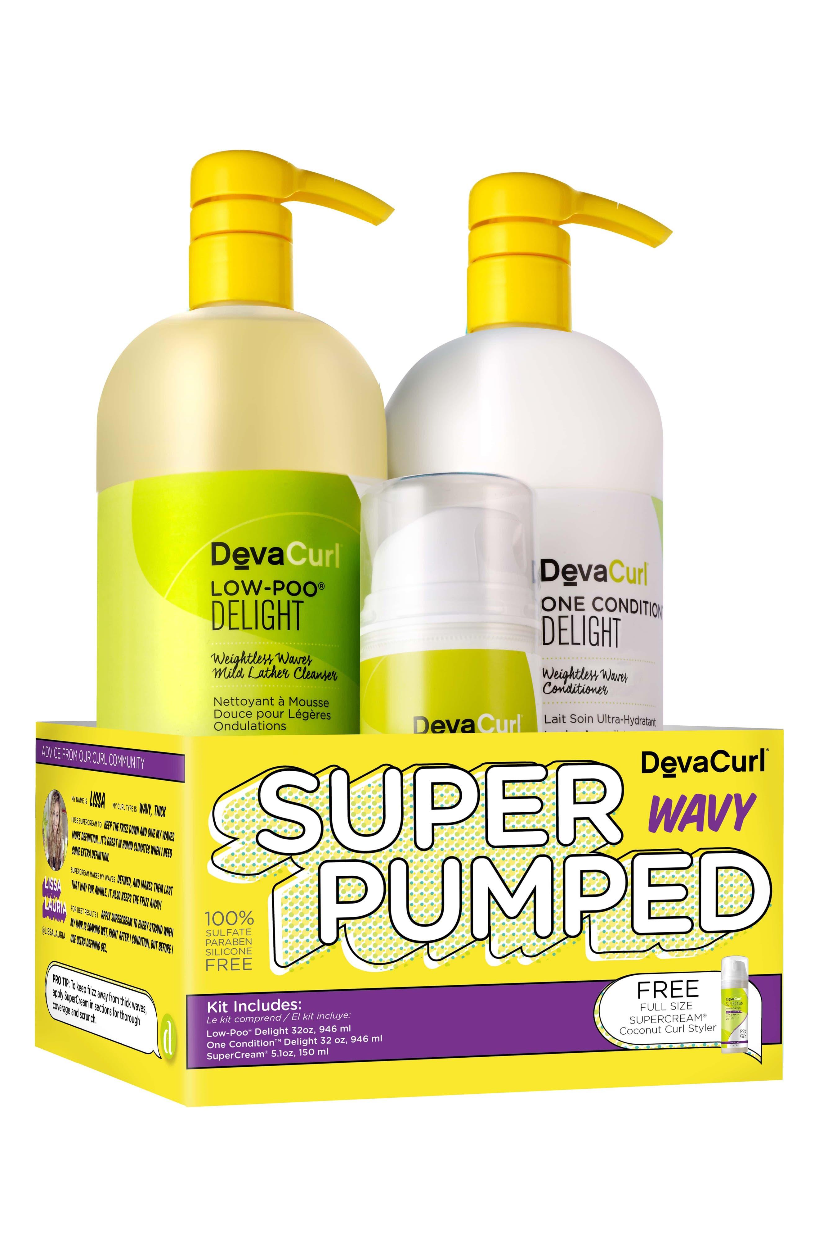 Super Pumped Wavy Hair Care Kit,                             Main thumbnail 1, color,                             No Color