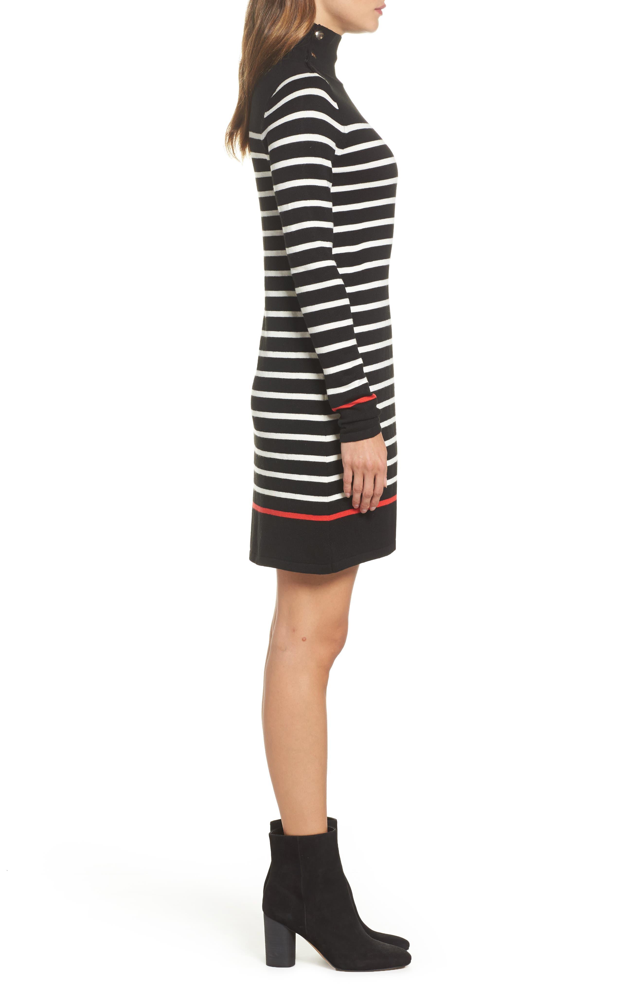 Alternate Image 3  - Eliza J Mockneck Stripe Shift Dress