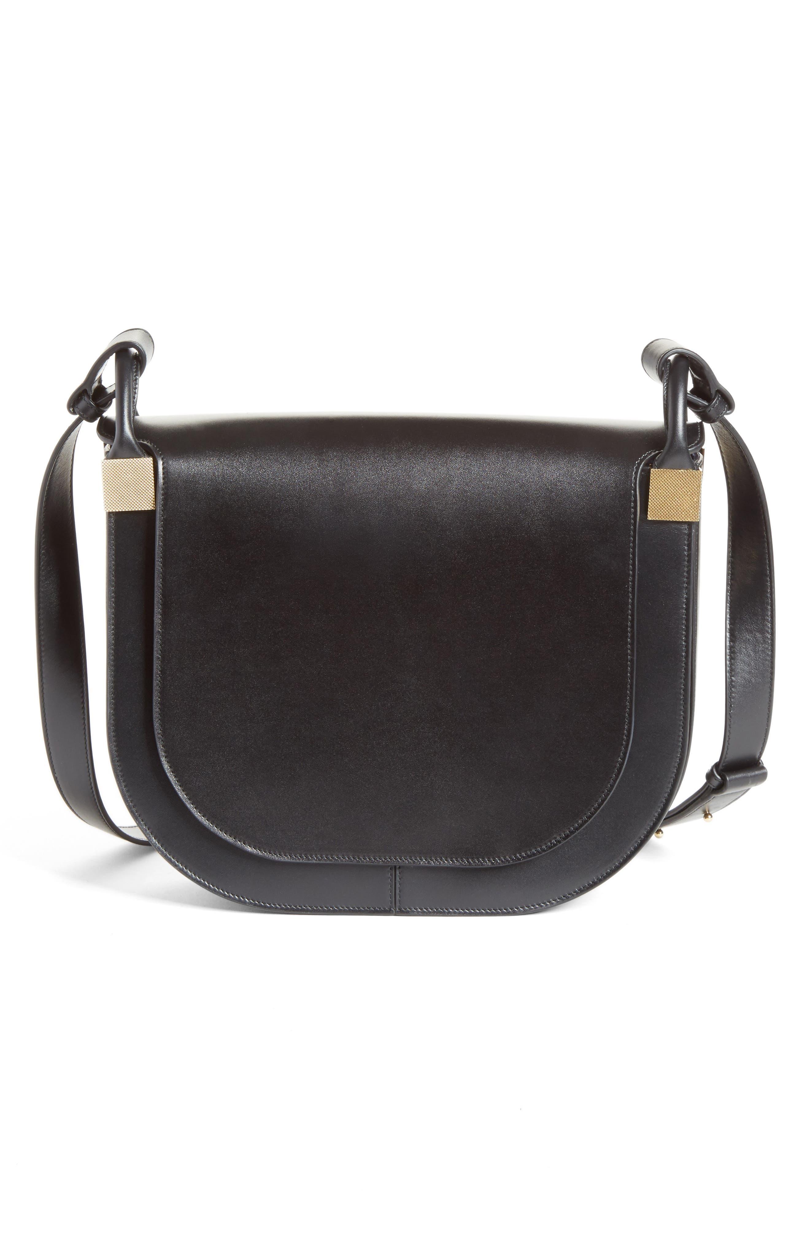 Half Moon Box Crossbody Bag,                         Main,                         color, Black