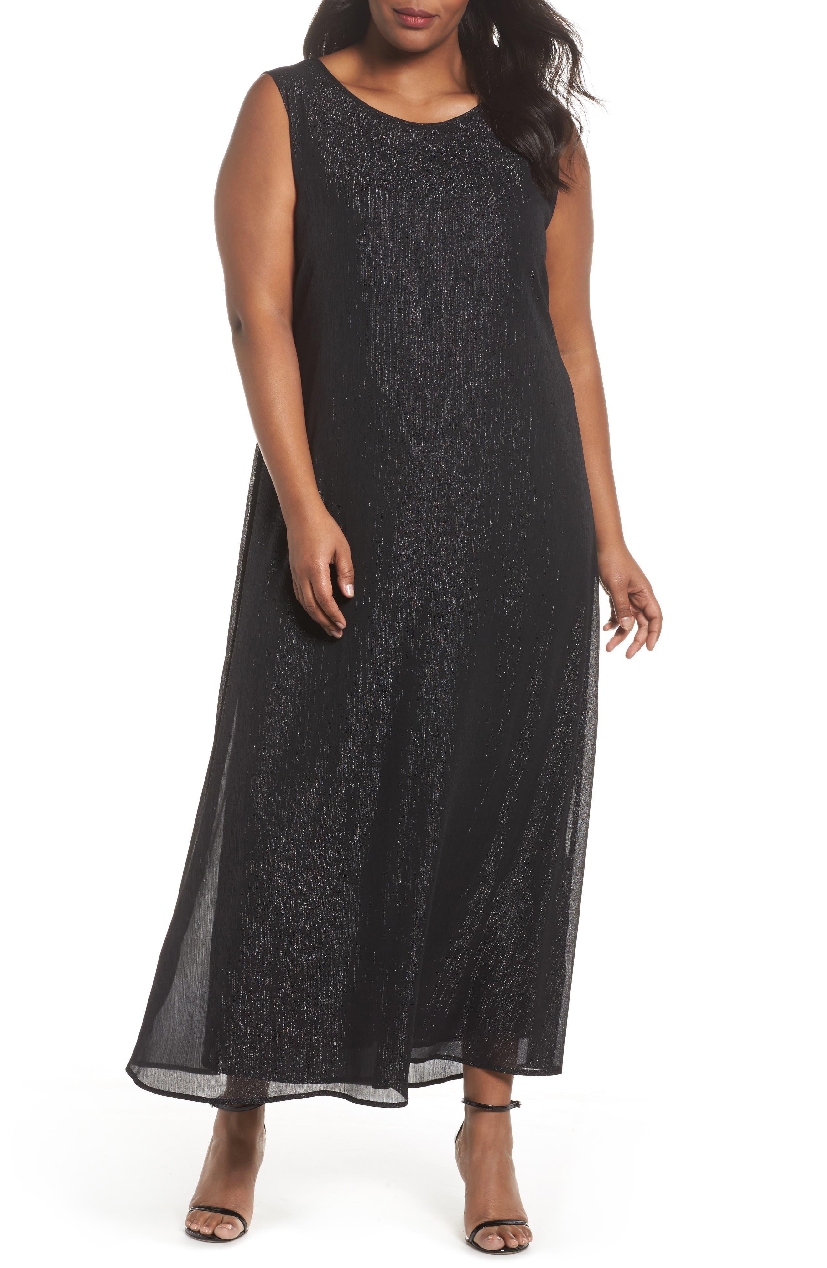 Dora Sleeveless Maxi Dress,                         Main,                         color, Black