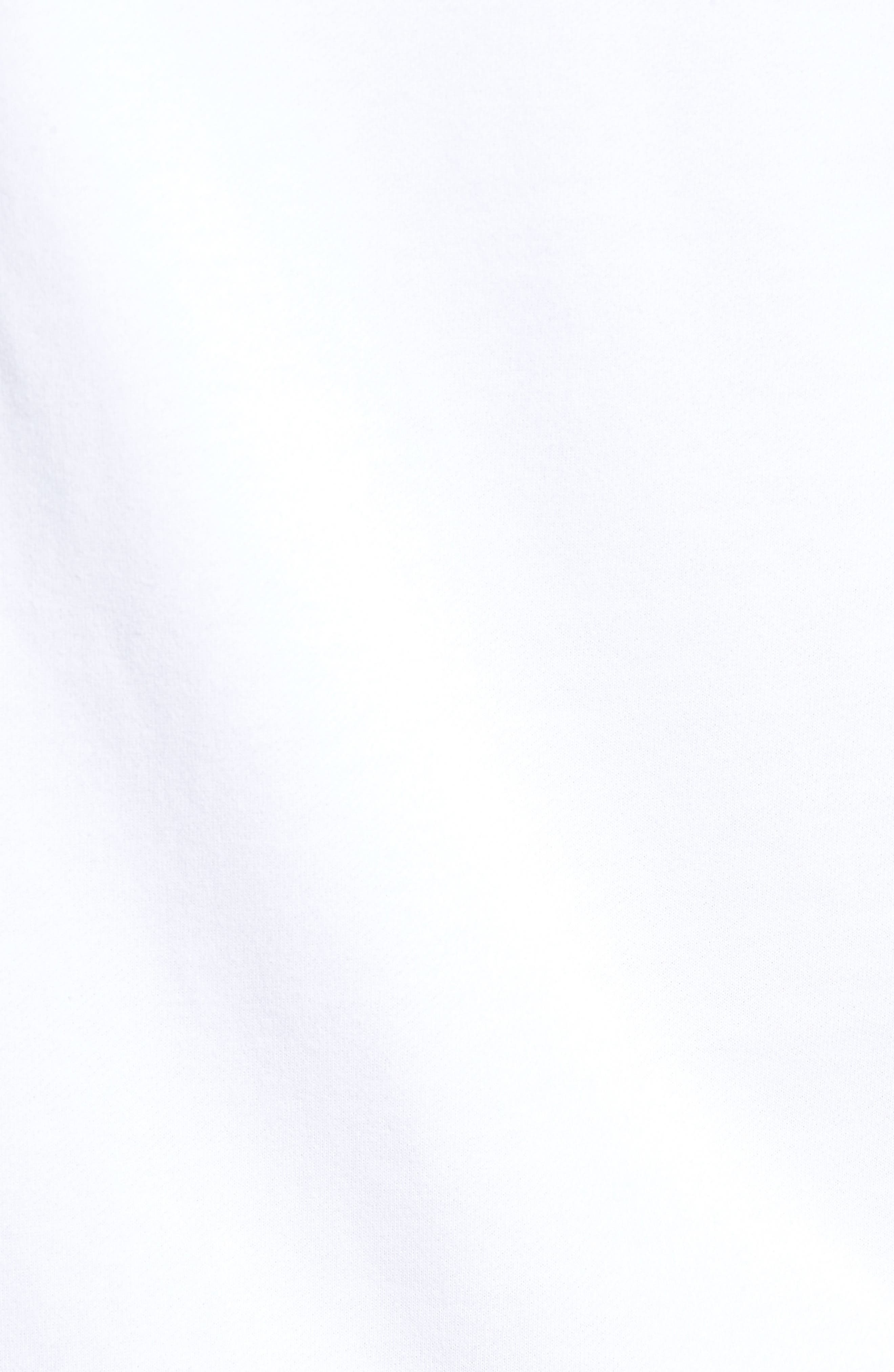 Raw Edge Raglan T-Shirt,                             Alternate thumbnail 5, color,                             White