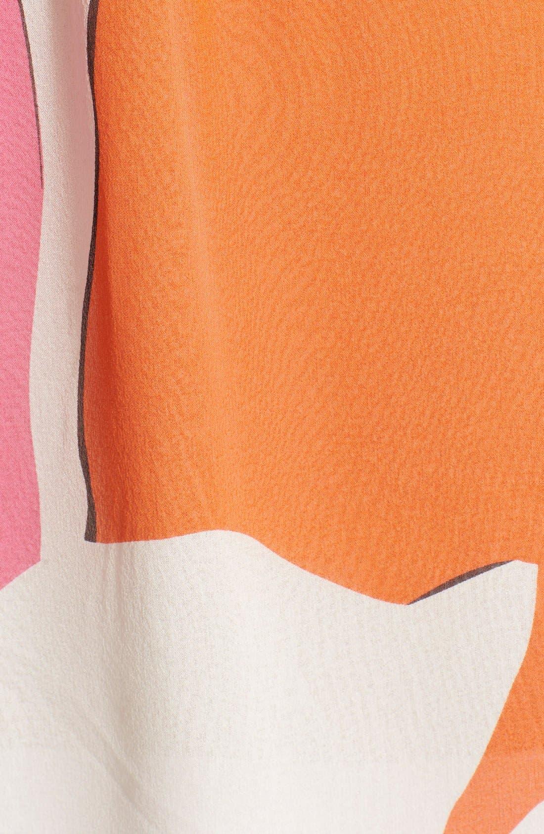'Camden' Floral Print Silk Top,                             Alternate thumbnail 3, color,                             Eden Garden Multi