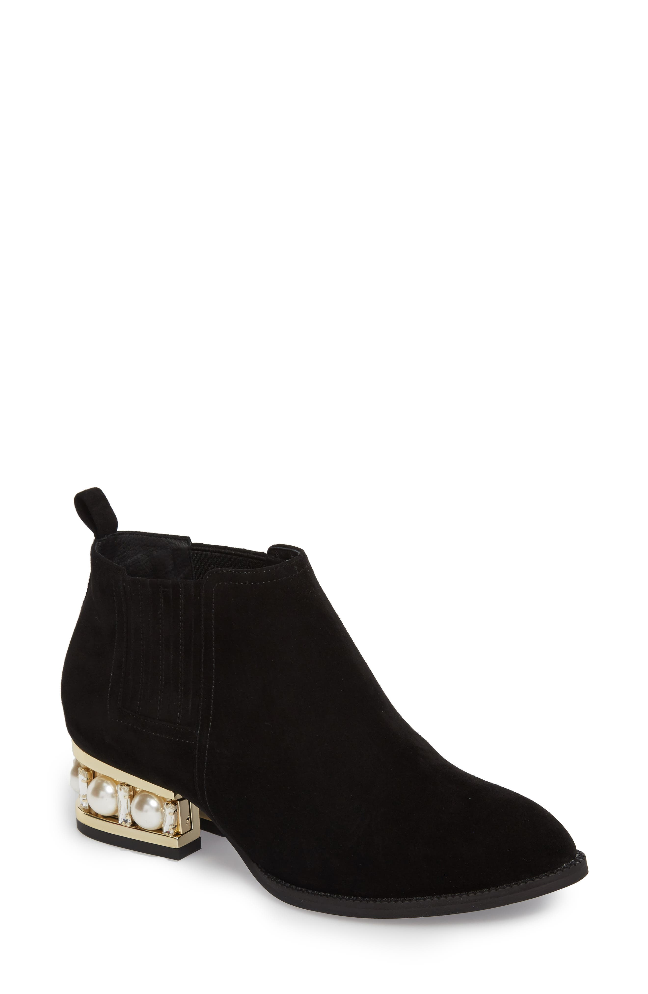 Main Image - Jeffrey Campbell Metcalf Embellished Bootie (Women)
