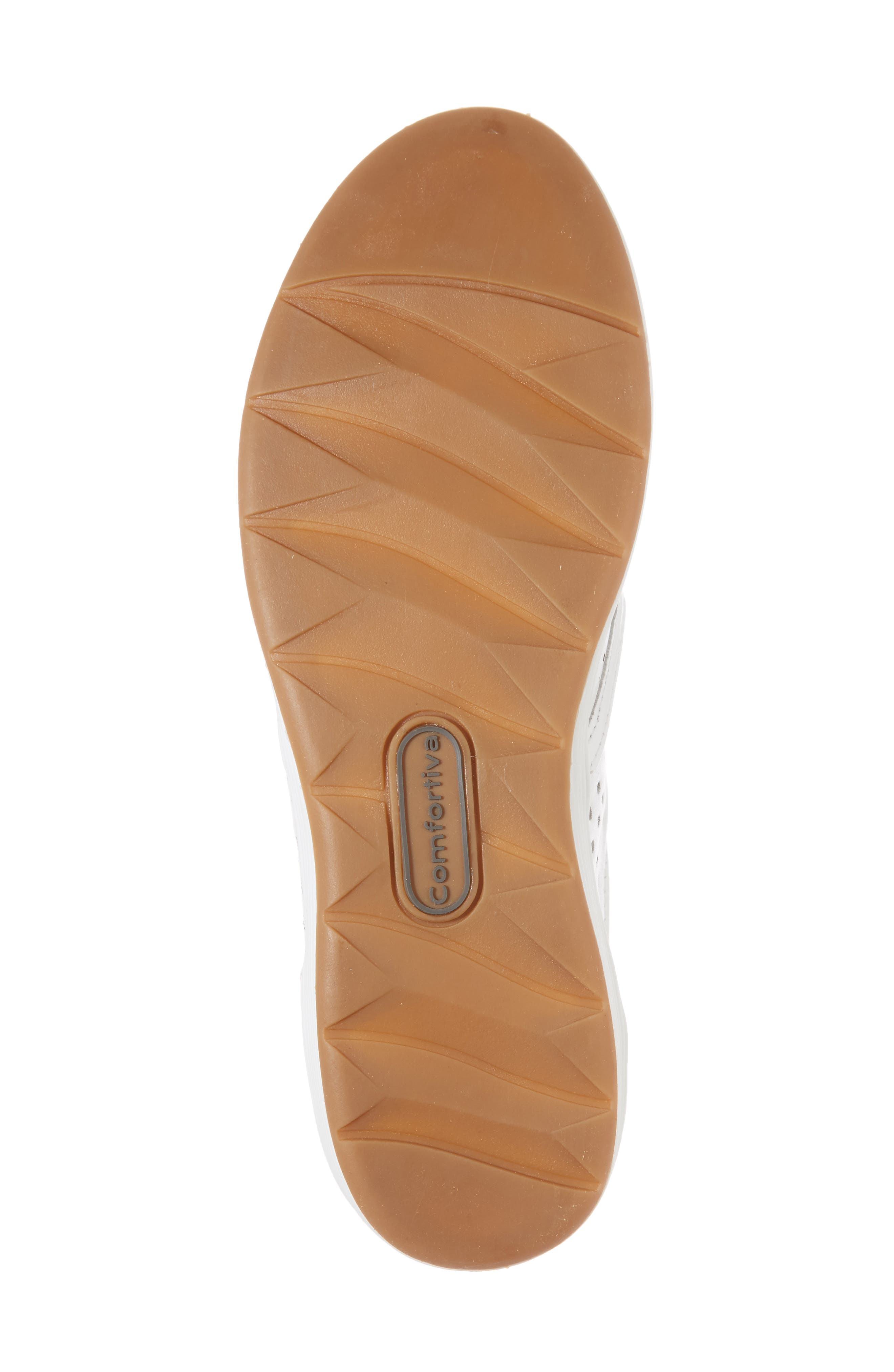Lyra Perforated Slip-On Sneaker,                             Alternate thumbnail 6, color,                             White Leather