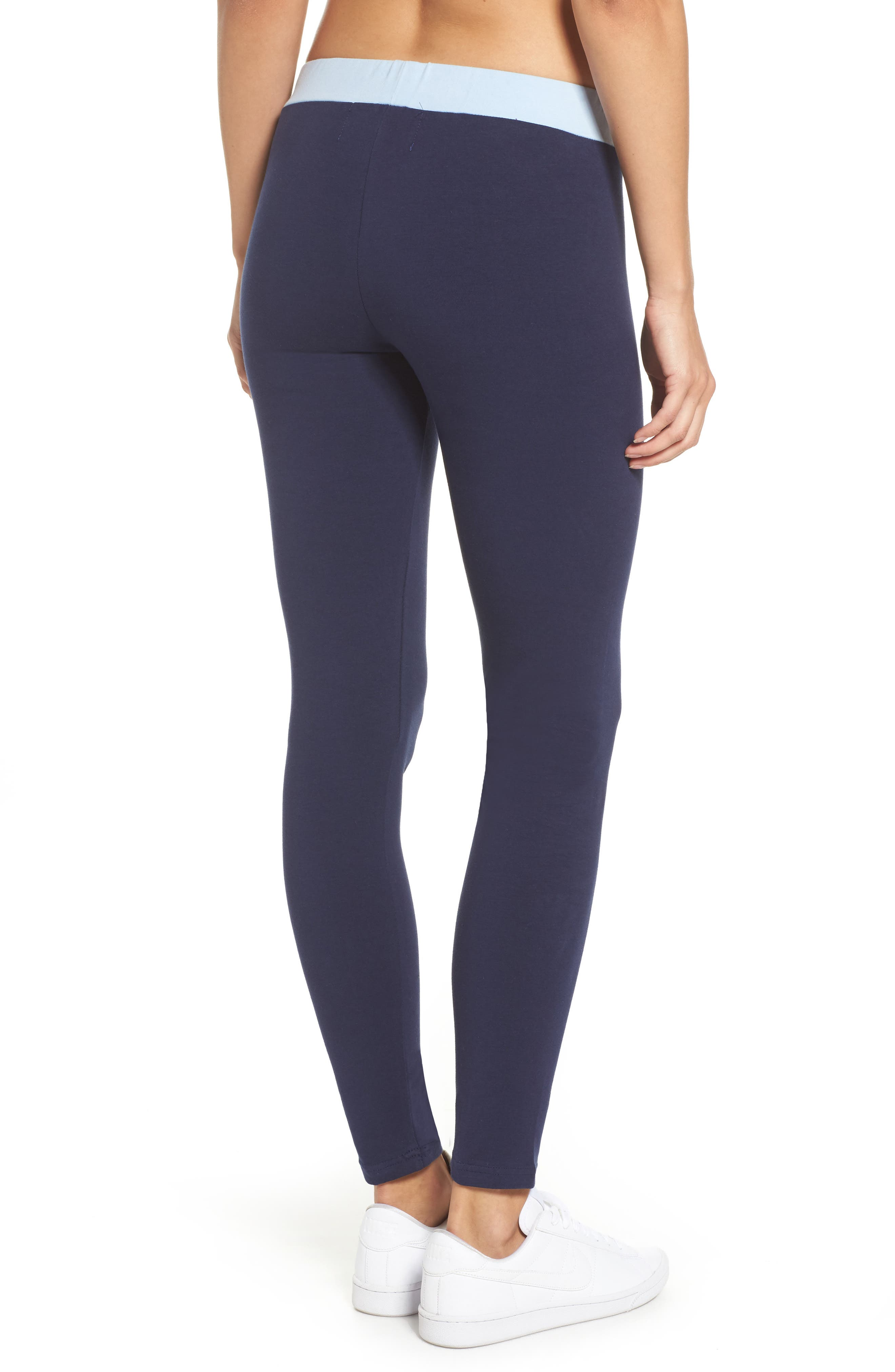 Imelda Training Tights,                             Alternate thumbnail 2, color,                             Navy/ Skyway/ Rio Red