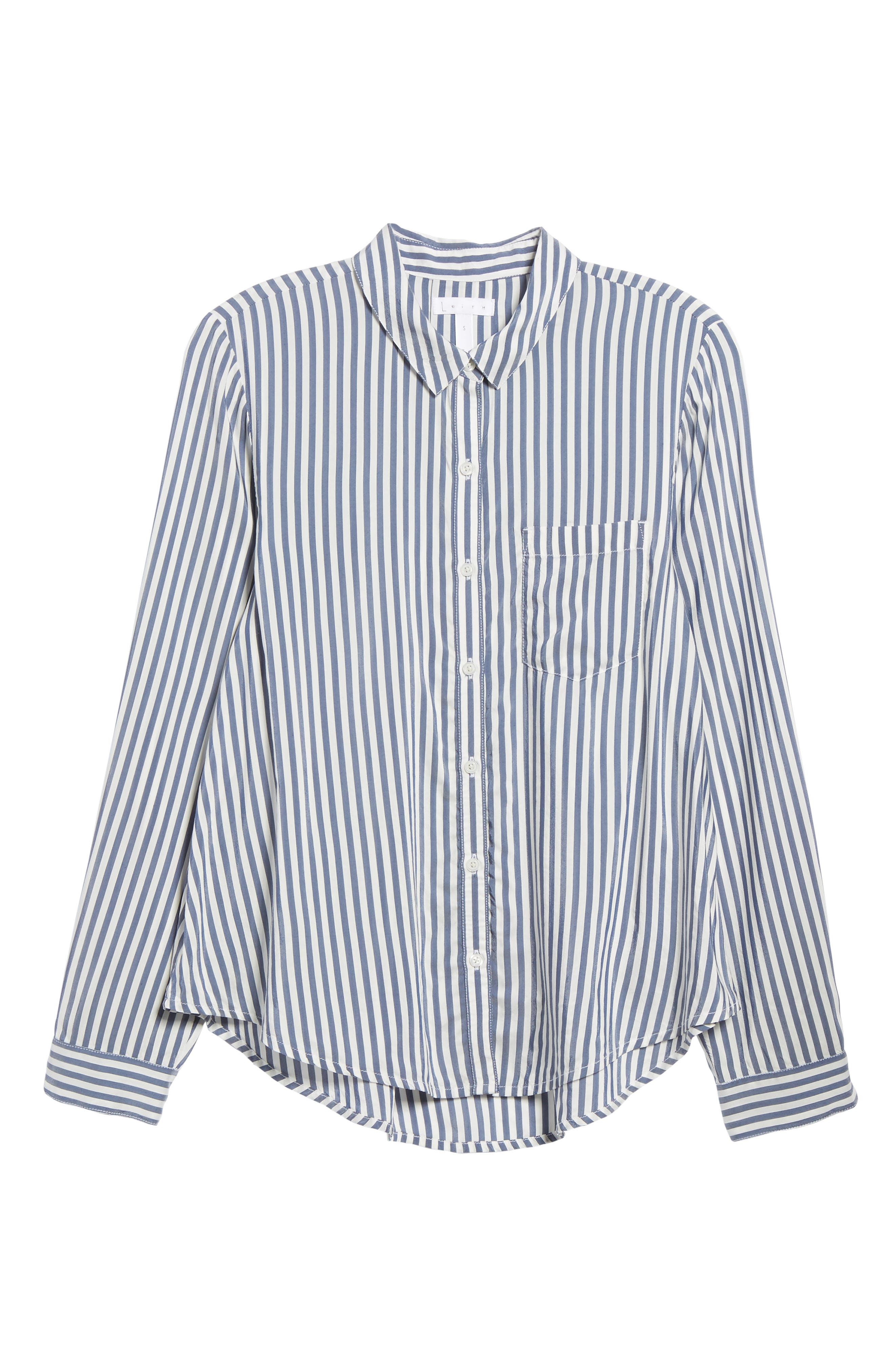 Stripe Shirt,                             Alternate thumbnail 6, color,                             Navy Evening Lucca Stripe