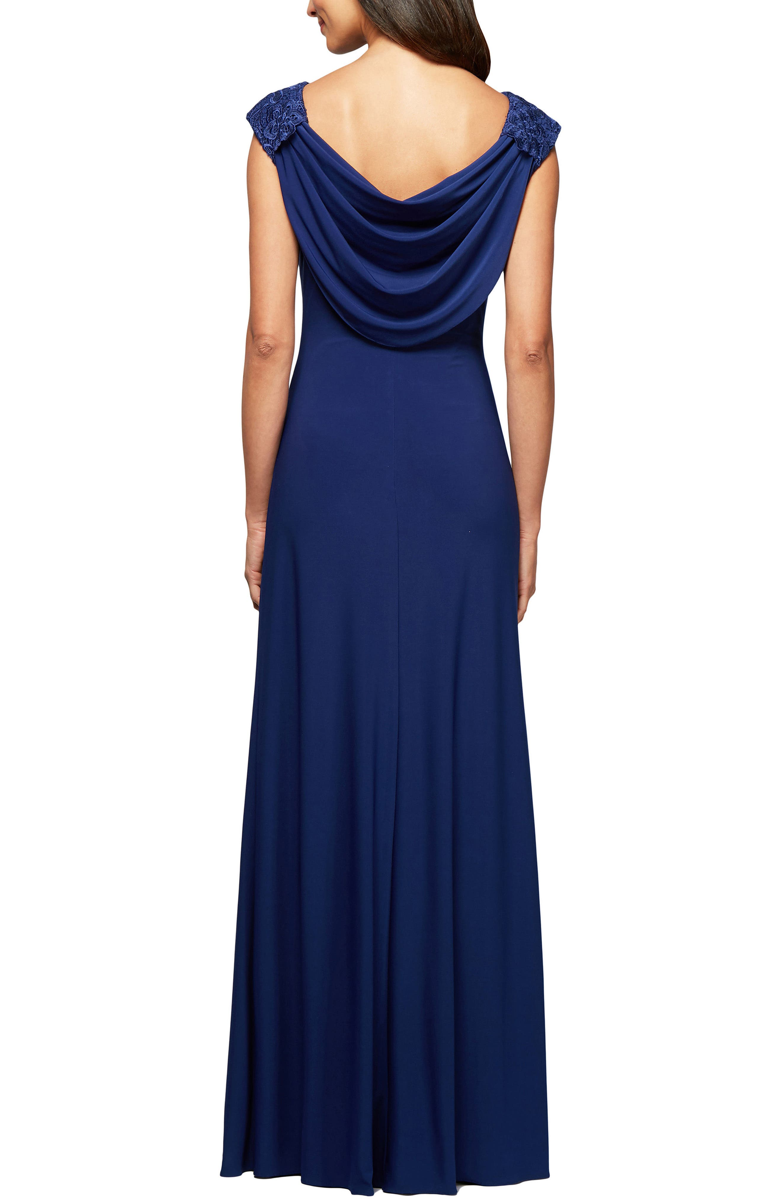 Ruched Gown,                             Alternate thumbnail 2, color,                             Royal