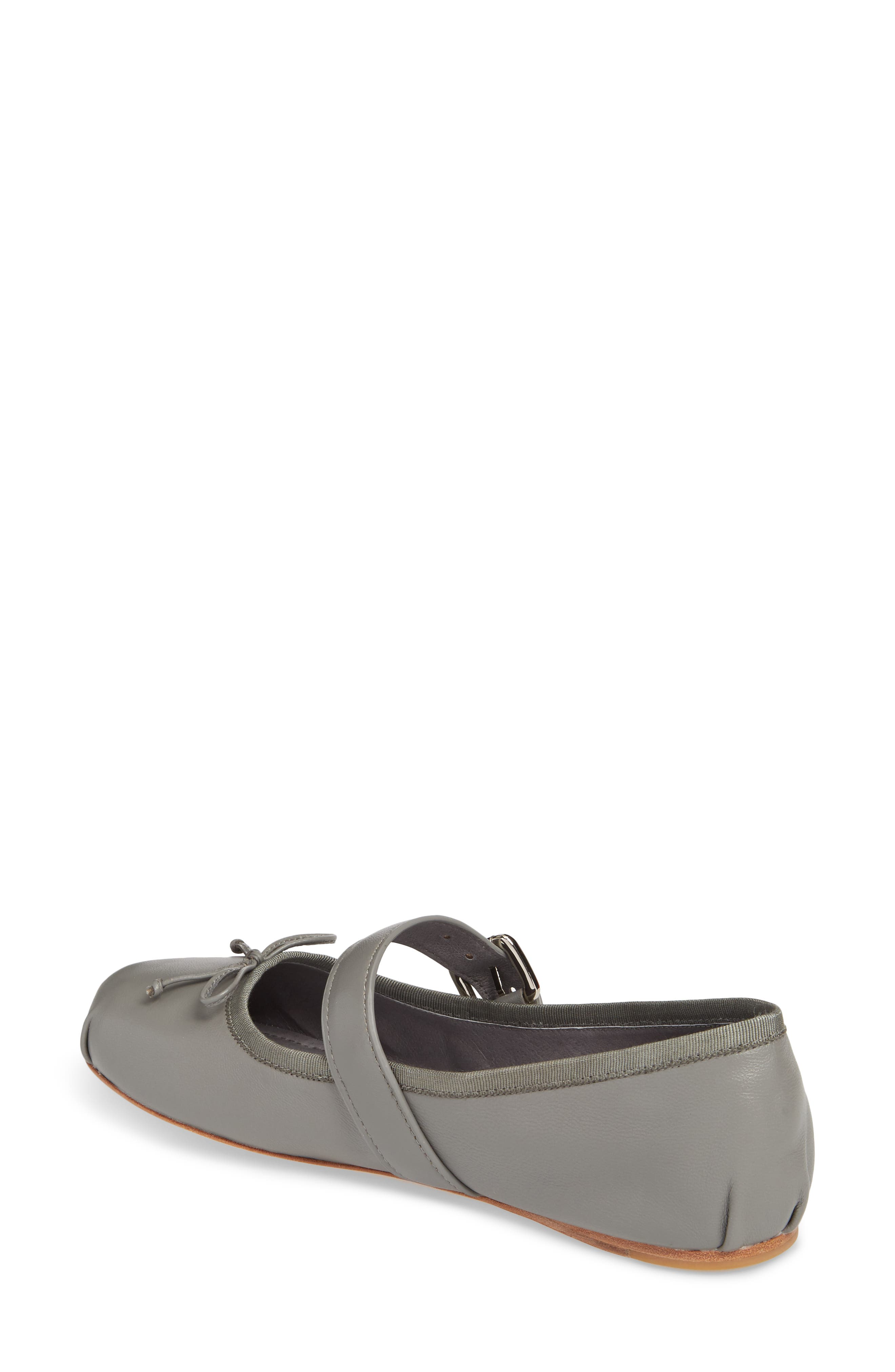 Molly Mary Jane Flat,                             Alternate thumbnail 2, color,                             Grey Leather