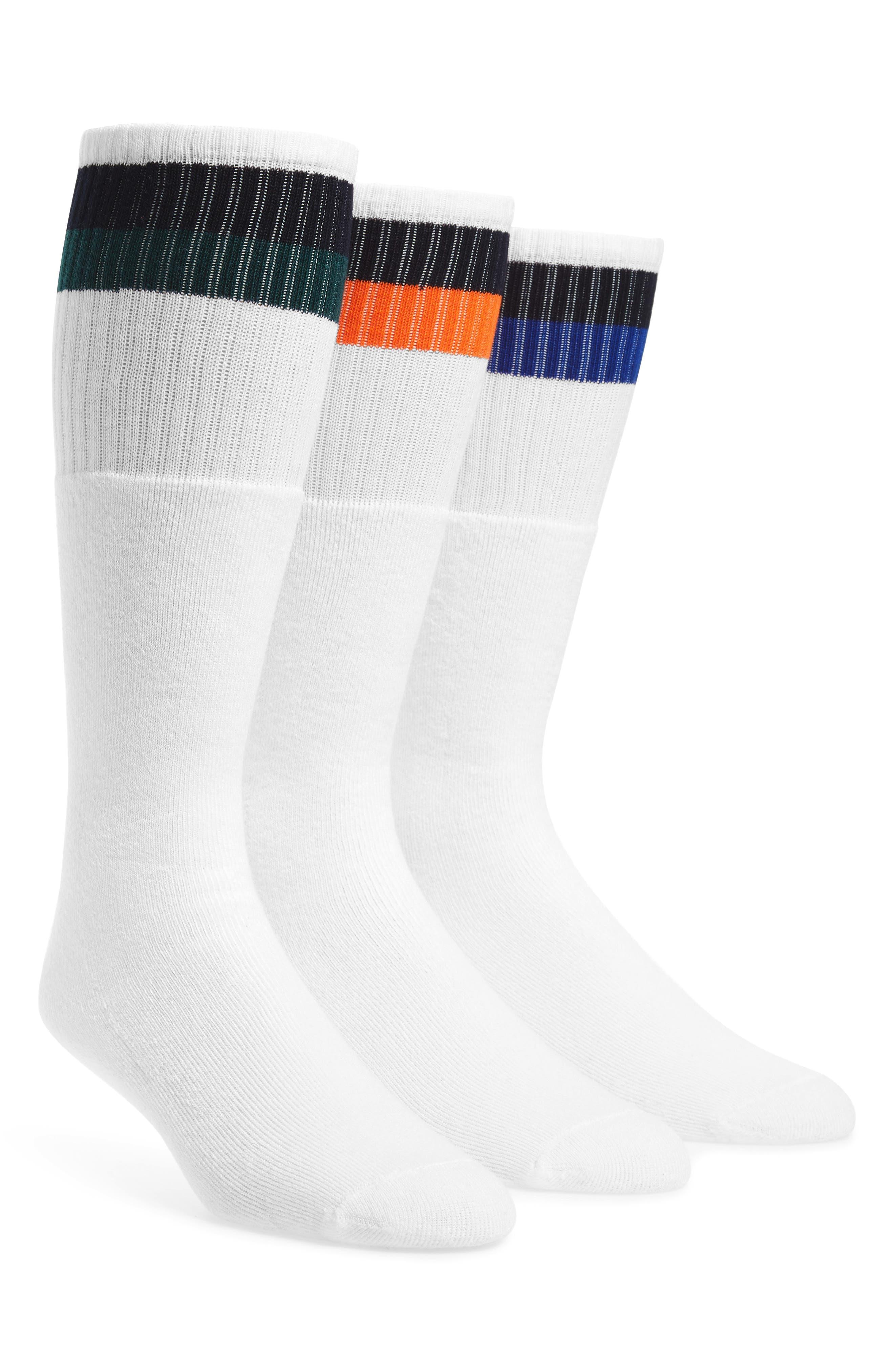 3-Pack Tube Socks,                         Main,                         color, White/ Royal