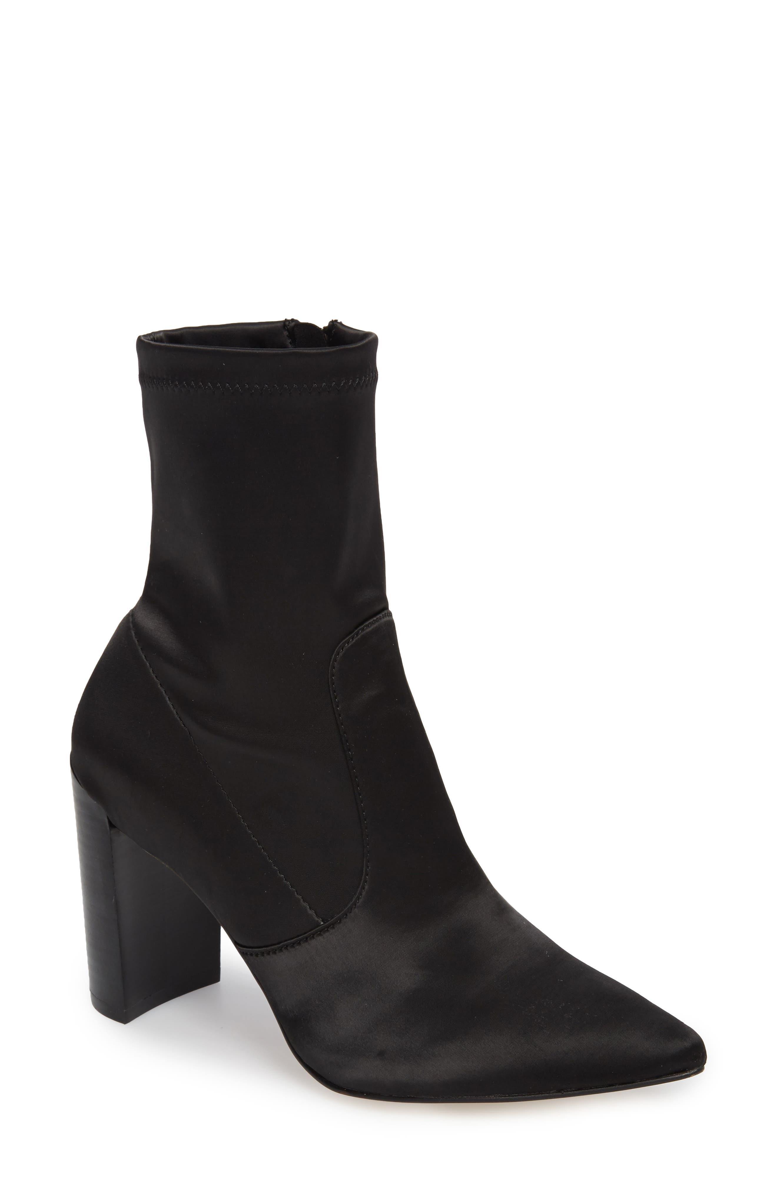 Raine Boot,                             Main thumbnail 1, color,                             Black Satin