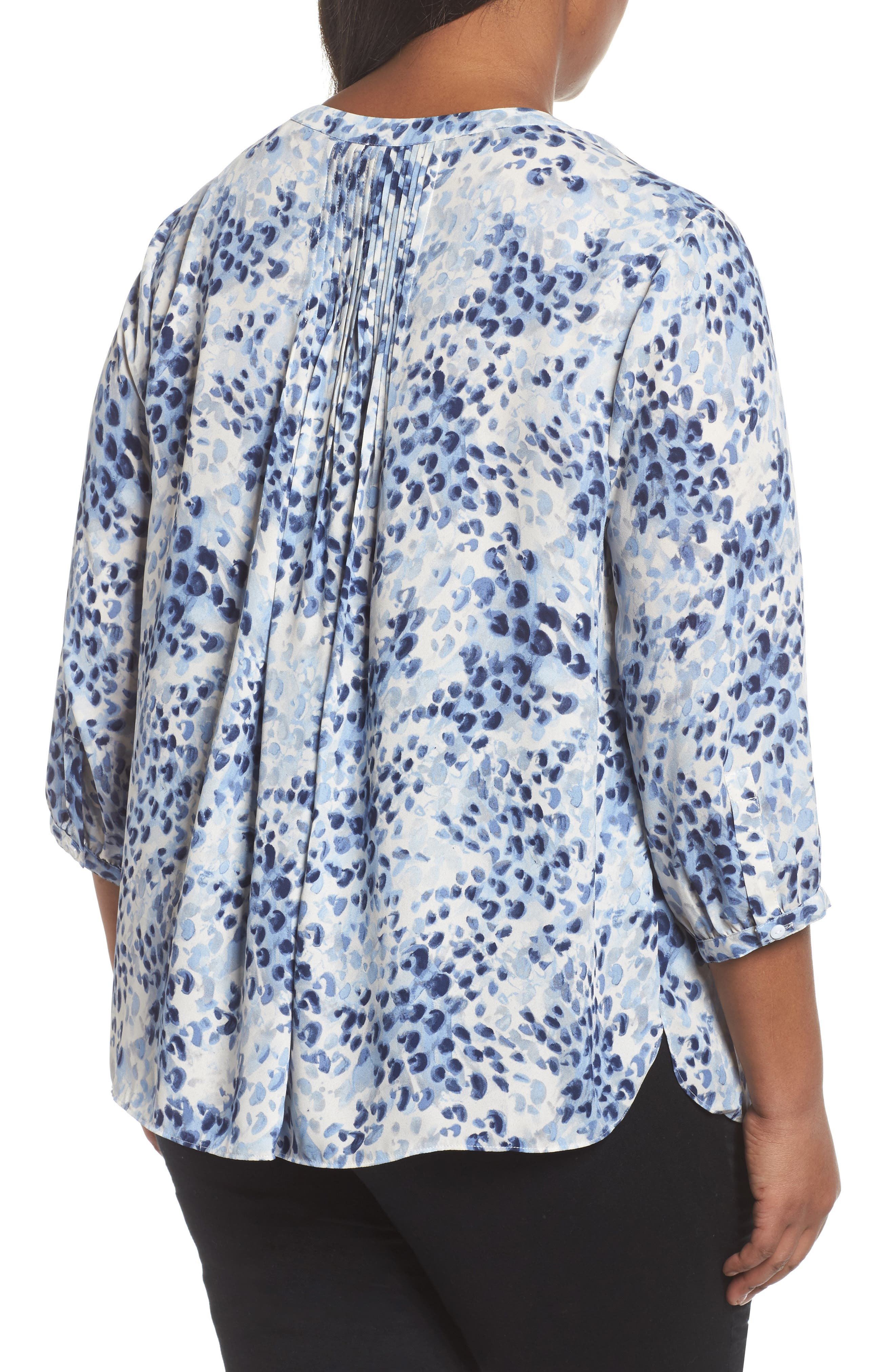 Blouse,                             Alternate thumbnail 2, color,                             Blue