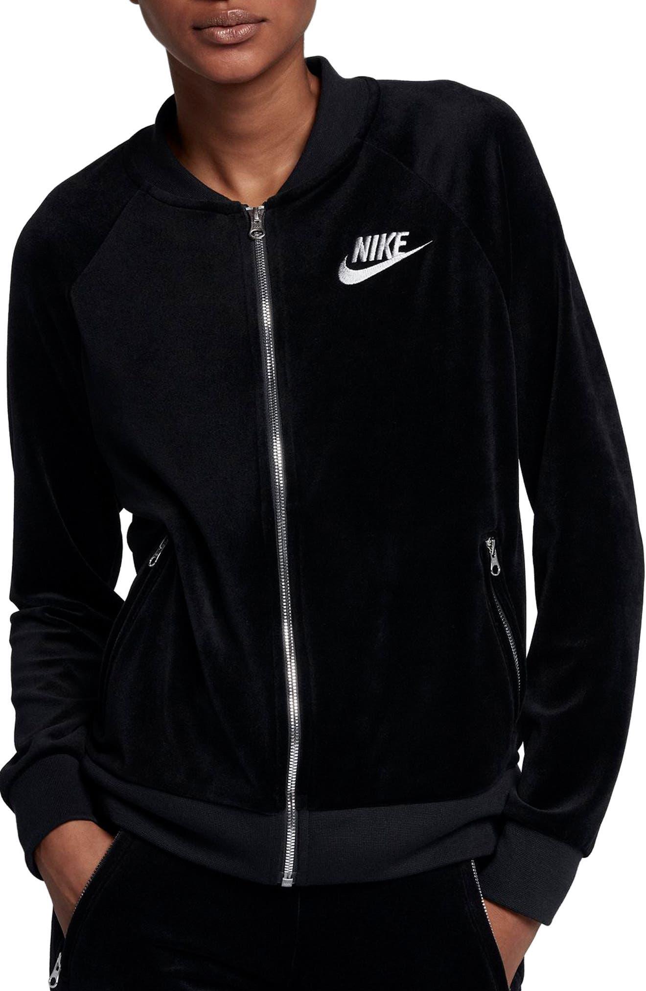Alternate Image 1 Selected - Nike Velour Jacket