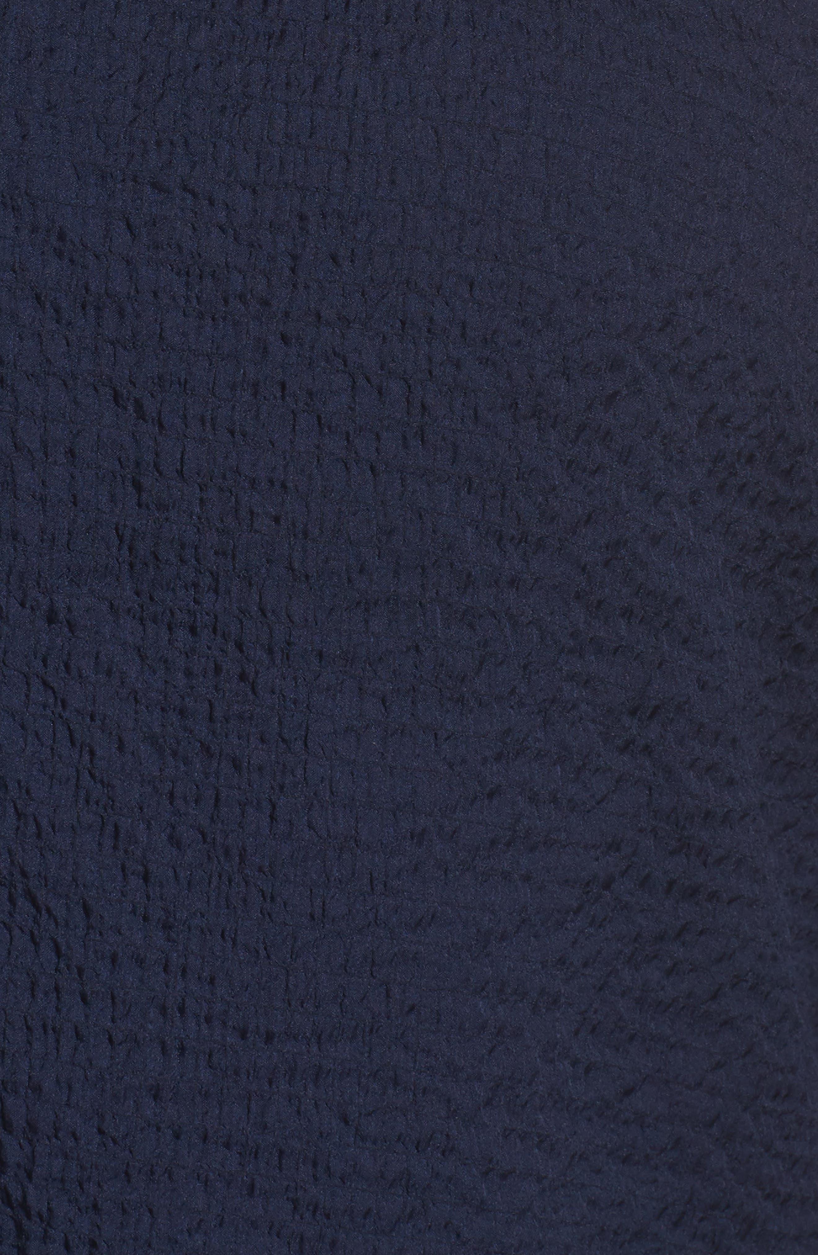 Sheer Batwing Blouse,                             Alternate thumbnail 5, color,                             Navy Peacoat