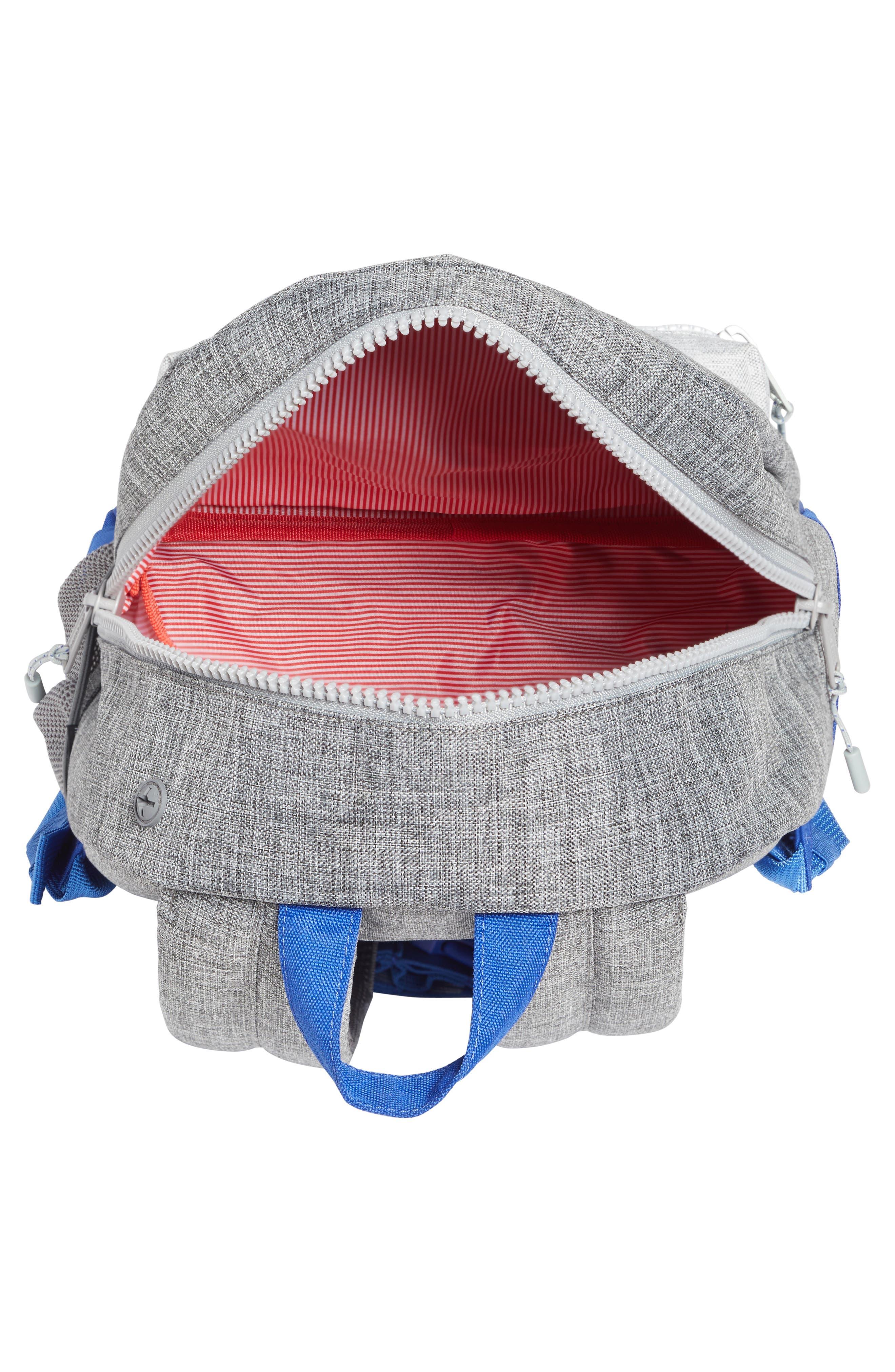 Heritage Colorblocked Backpack,                             Alternate thumbnail 3, color,                             Raven Crosshatch/ Surf Blue