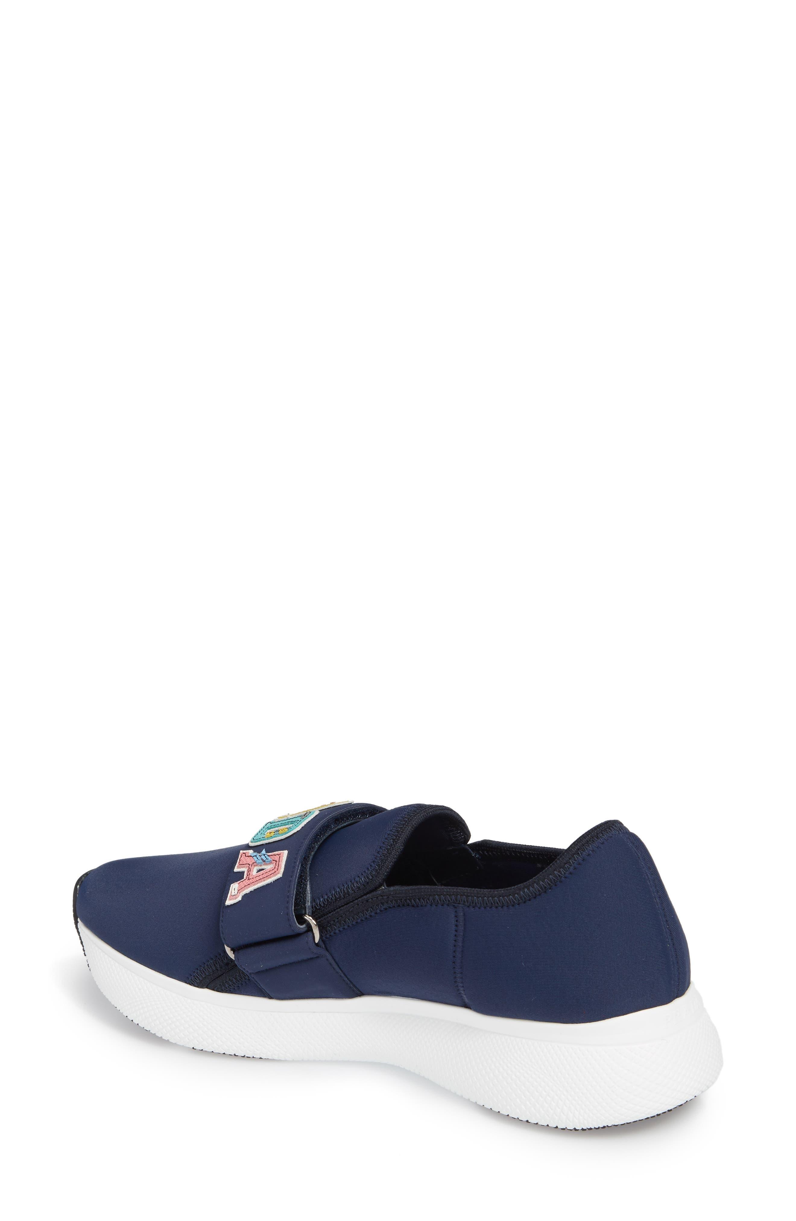 Alternate Image 2  - Prada Logo Strap Low Top Sneaker (Women)