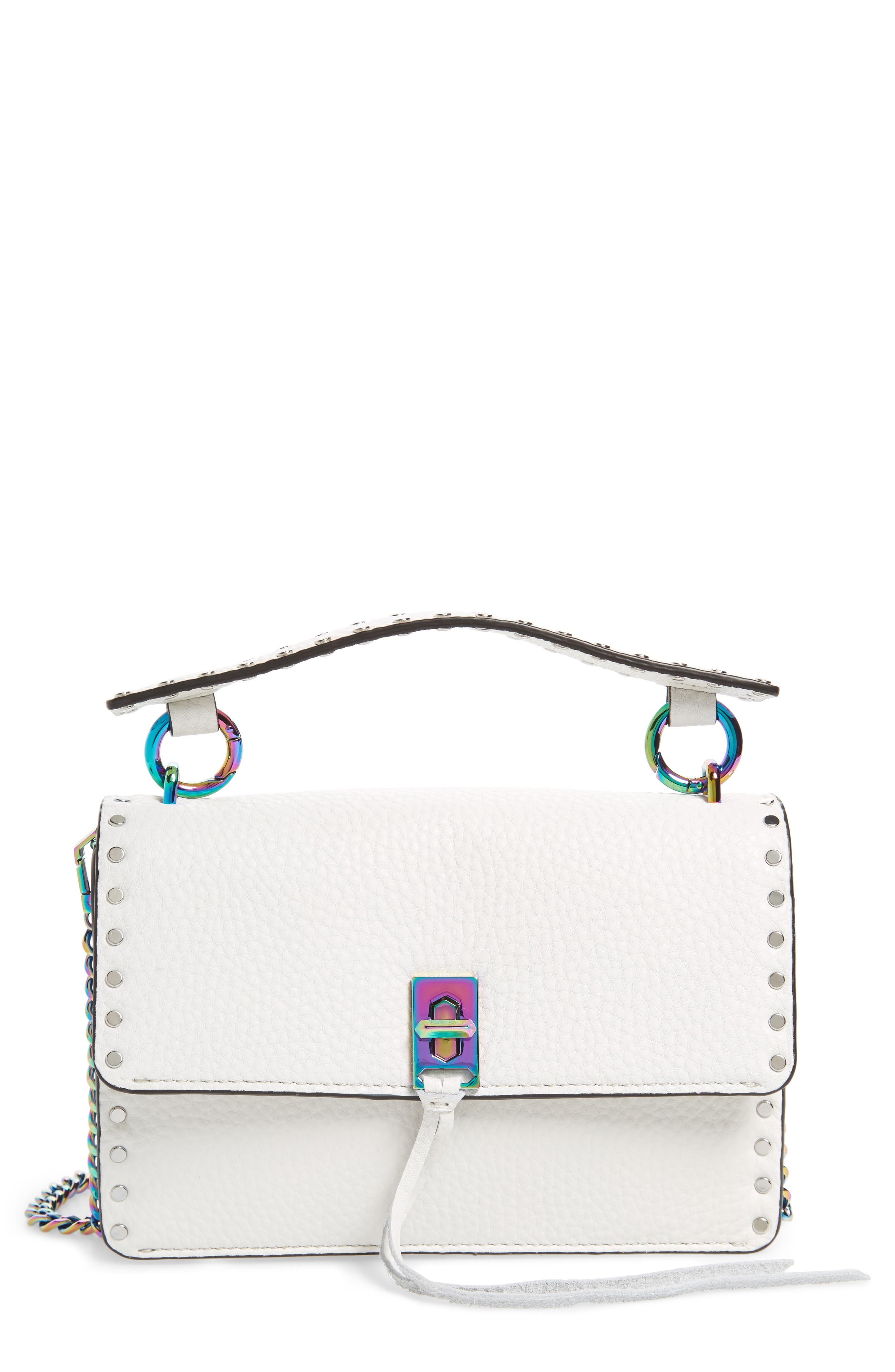 Darren Leather Top Handle Crossbody Bag,                         Main,                         color, Bianco