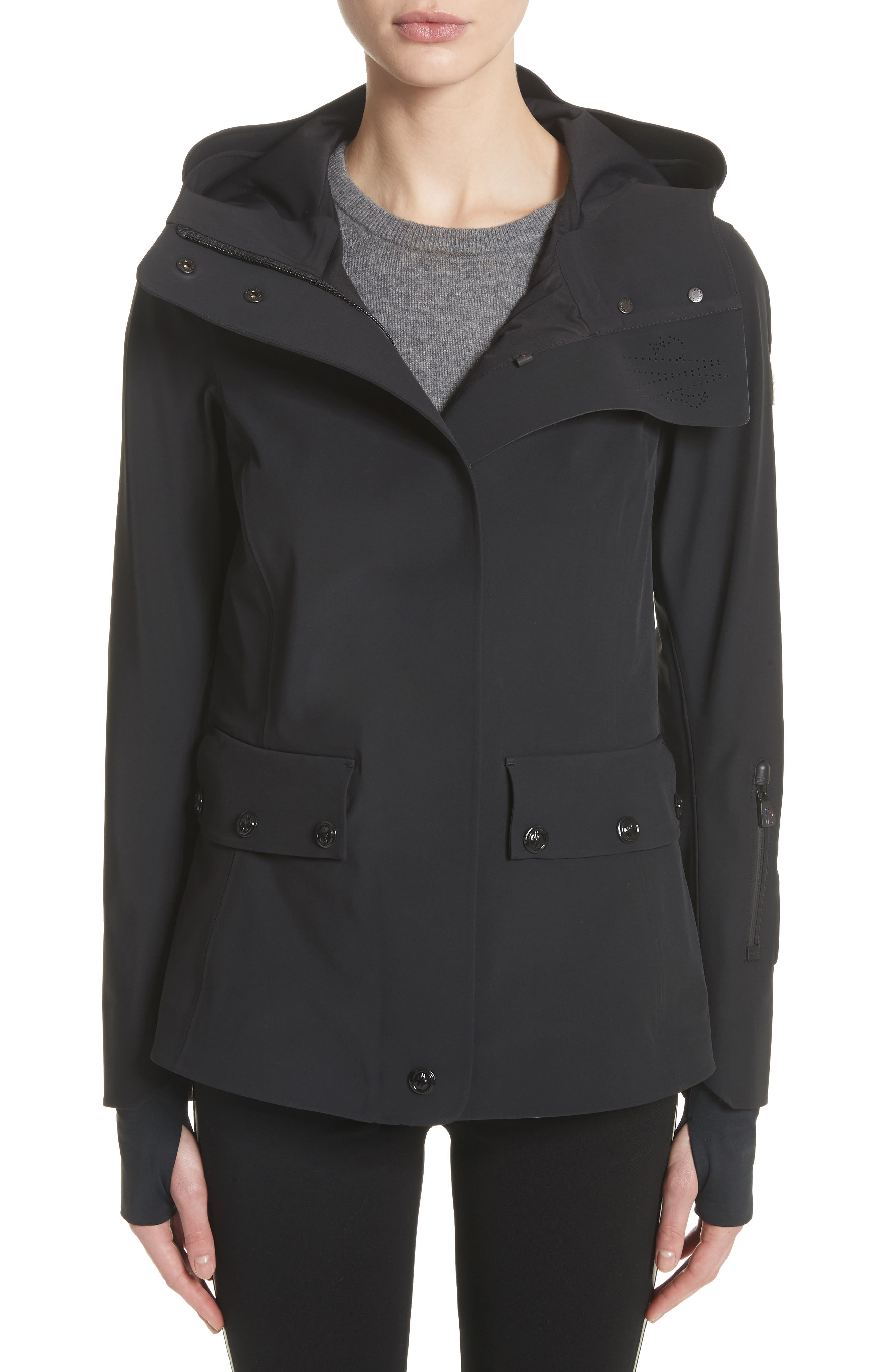 Lozere Waterproof Hooded Jacket,                         Main,                         color, Black