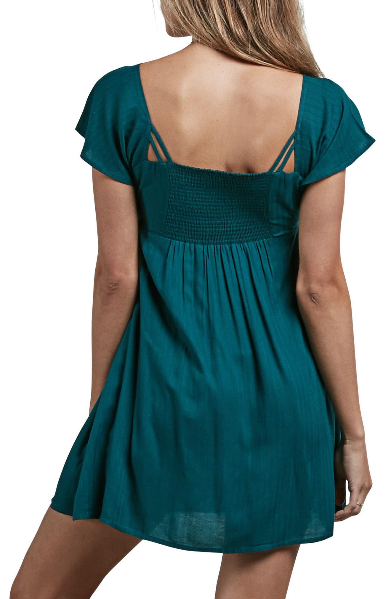 It's a Cinch Babydoll Dress,                             Alternate thumbnail 3, color,                             Green Mild