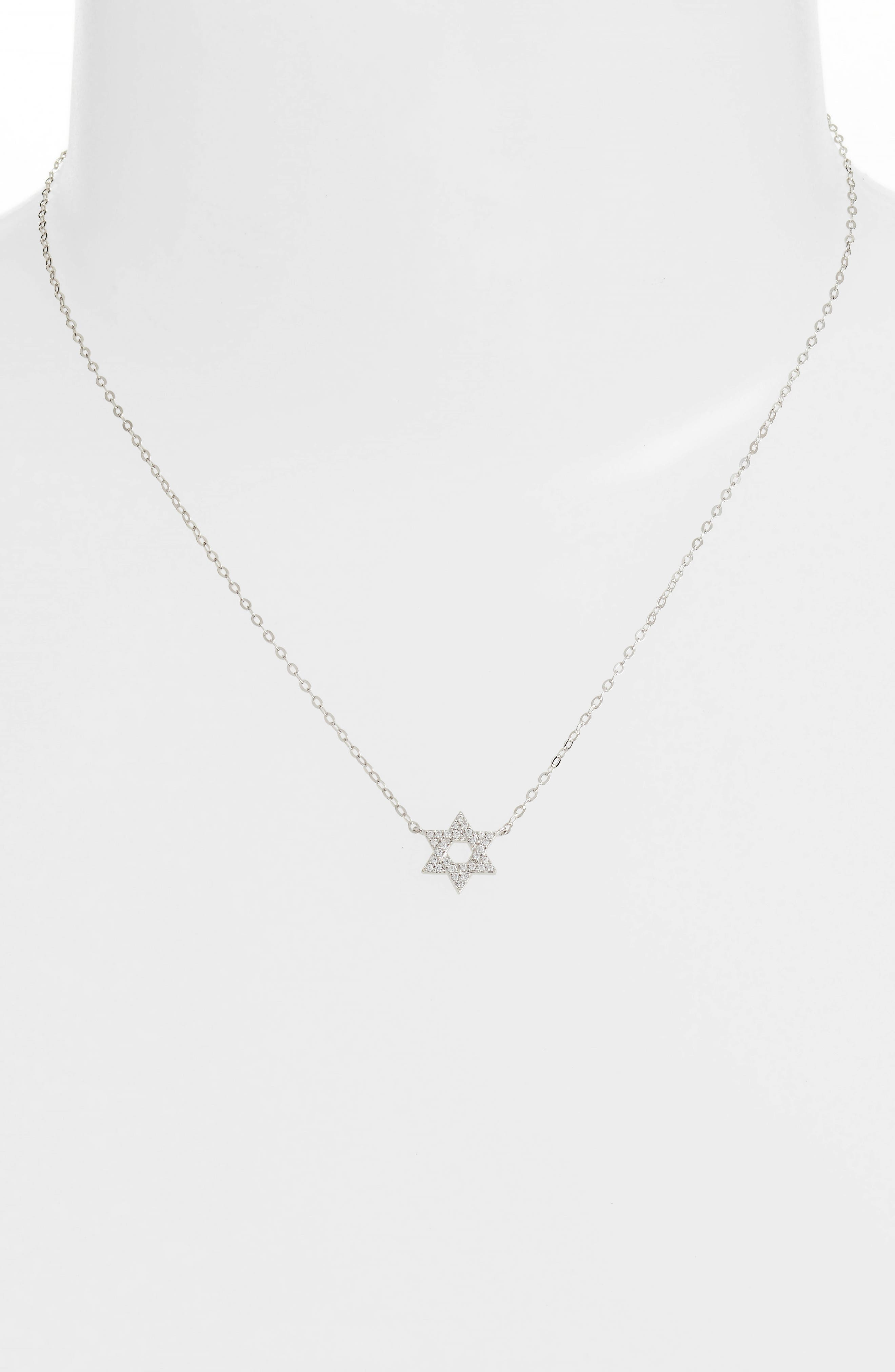 Reminisce Star of David Pendant Necklace,                             Alternate thumbnail 2, color,                             Silver