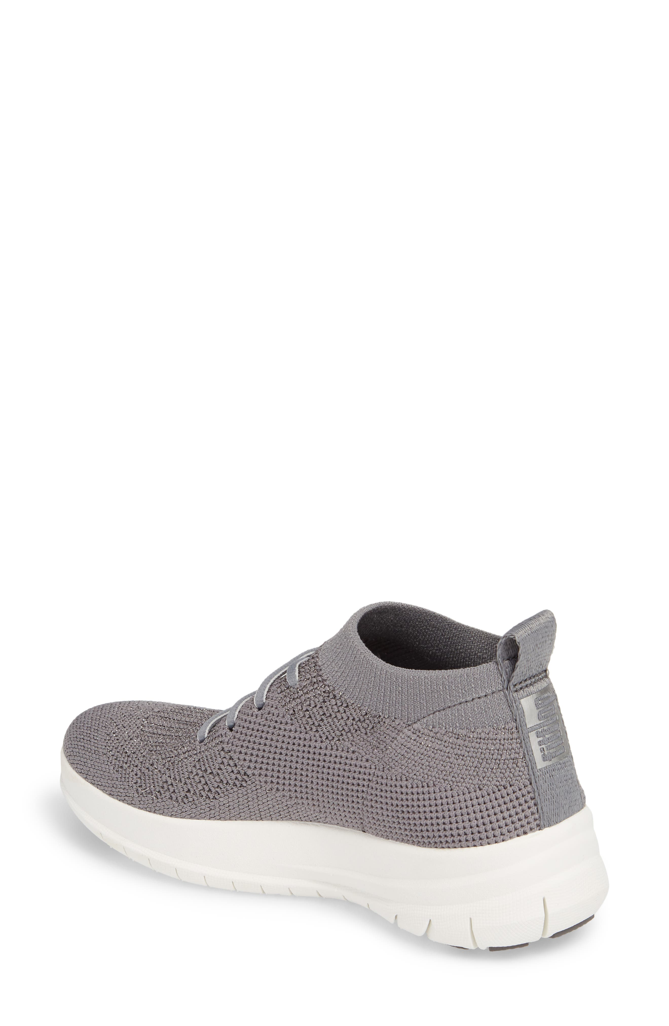 Uberknit<sup>™</sup> Slip-On High-Top Sneaker,                             Alternate thumbnail 2, color,                             Charcoal/ Metallic Pewter