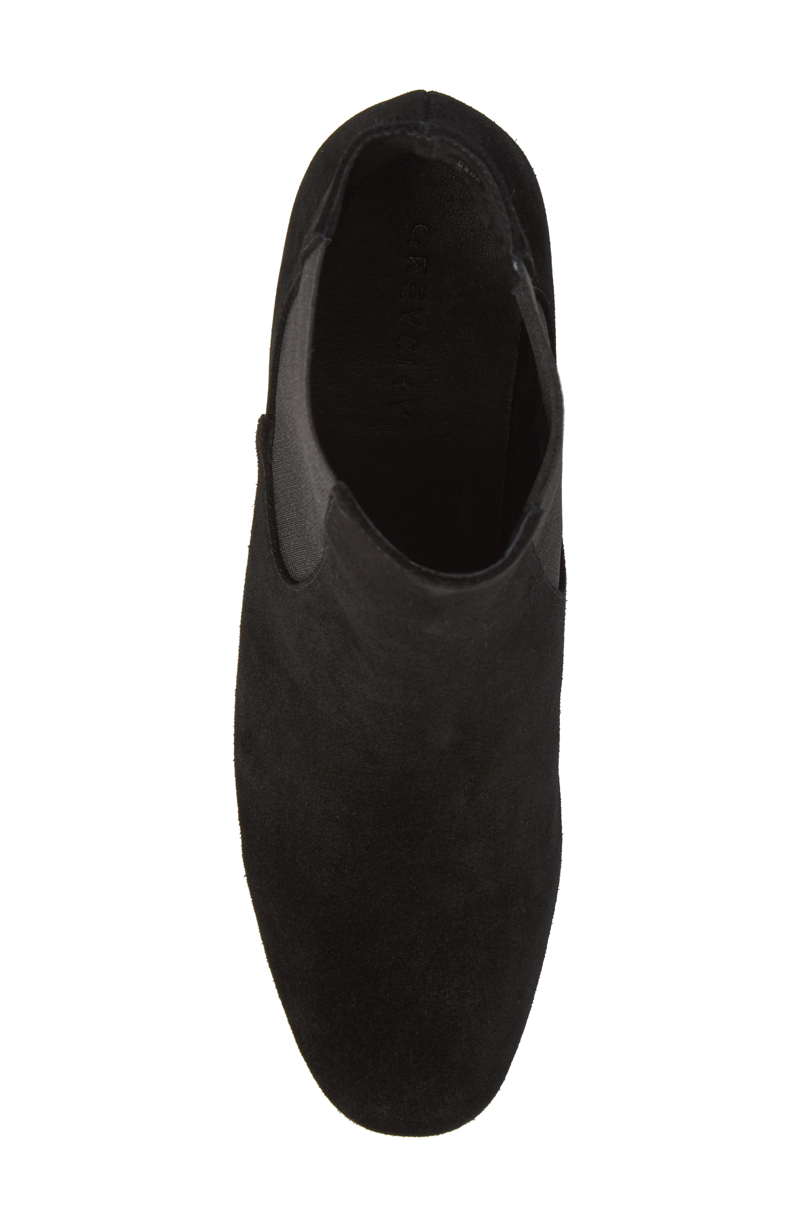 Tucker Chelsea Bootie,                             Alternate thumbnail 5, color,                             Black Leather