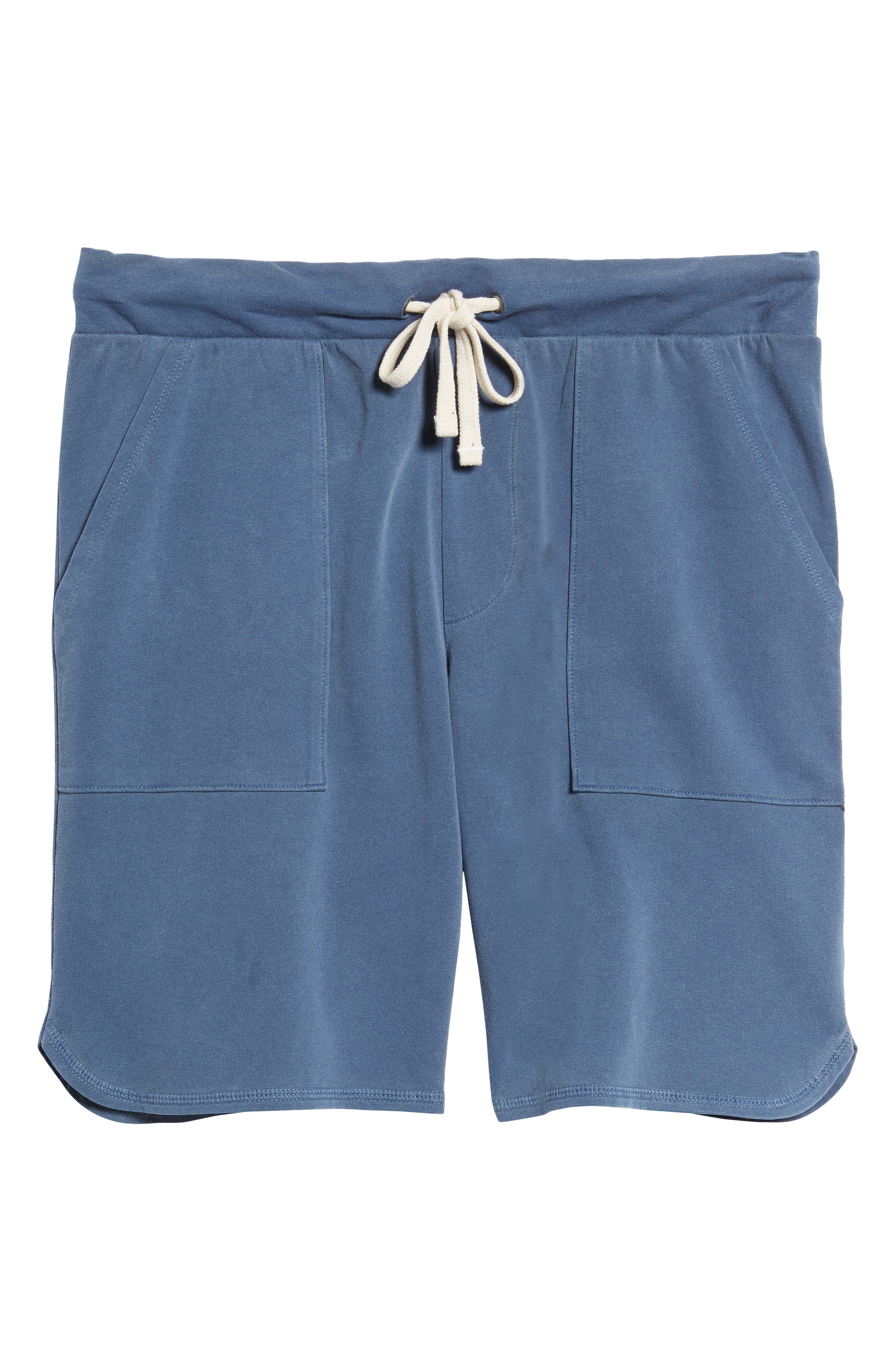 Terrycloth Scallop Shorts,                             Alternate thumbnail 6, color,                             Faded Navy