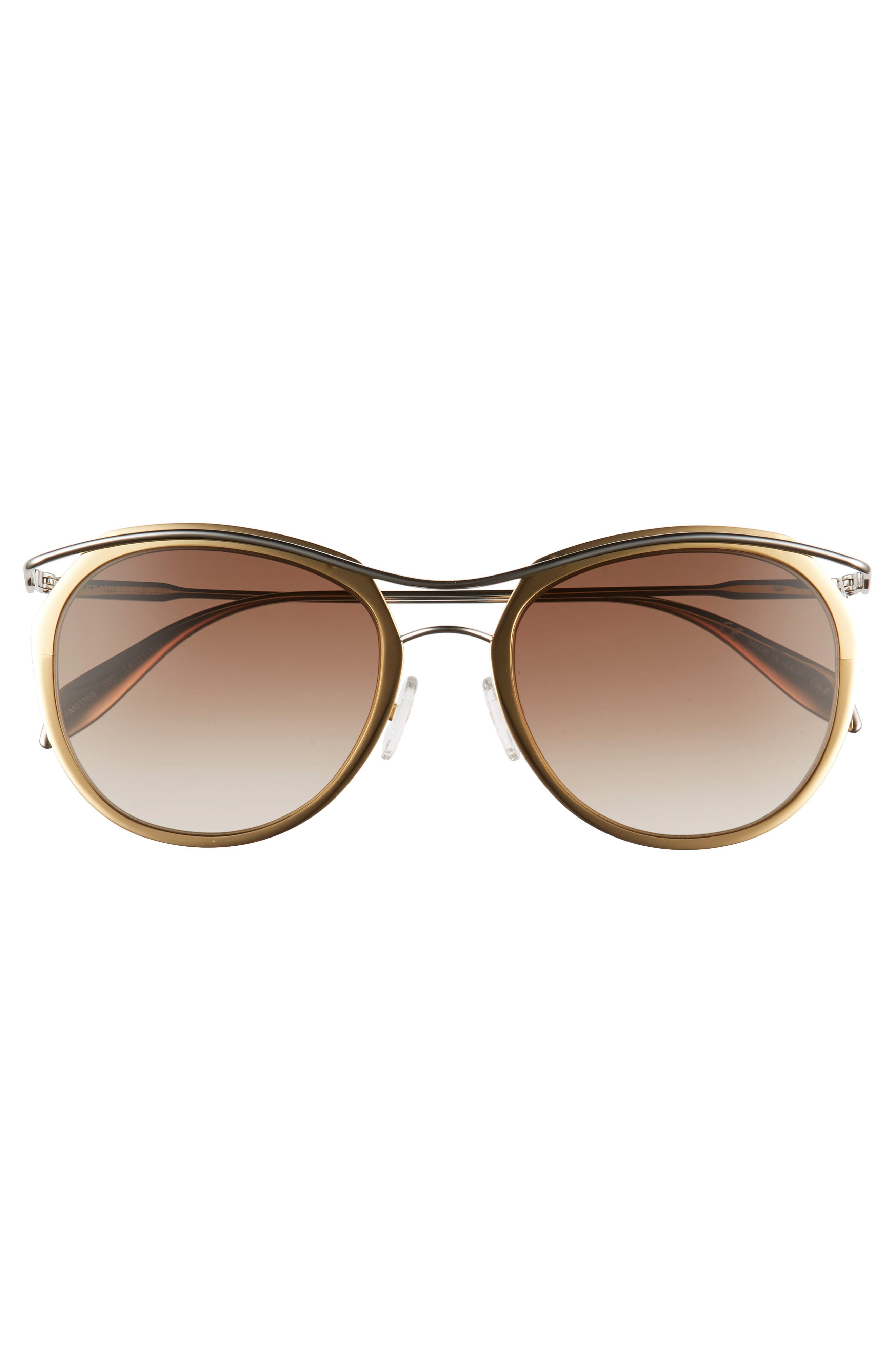 Alternate Image 3  - Alexander McQueen 54mm Gradient Round Sunglasses